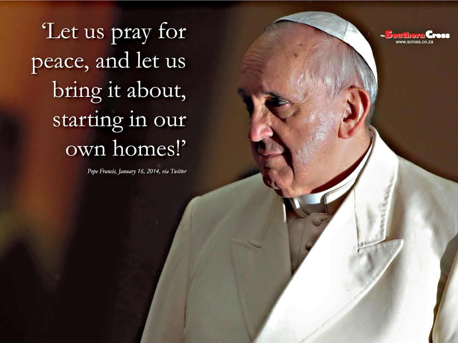 Pope Francis Quote Wallpapers