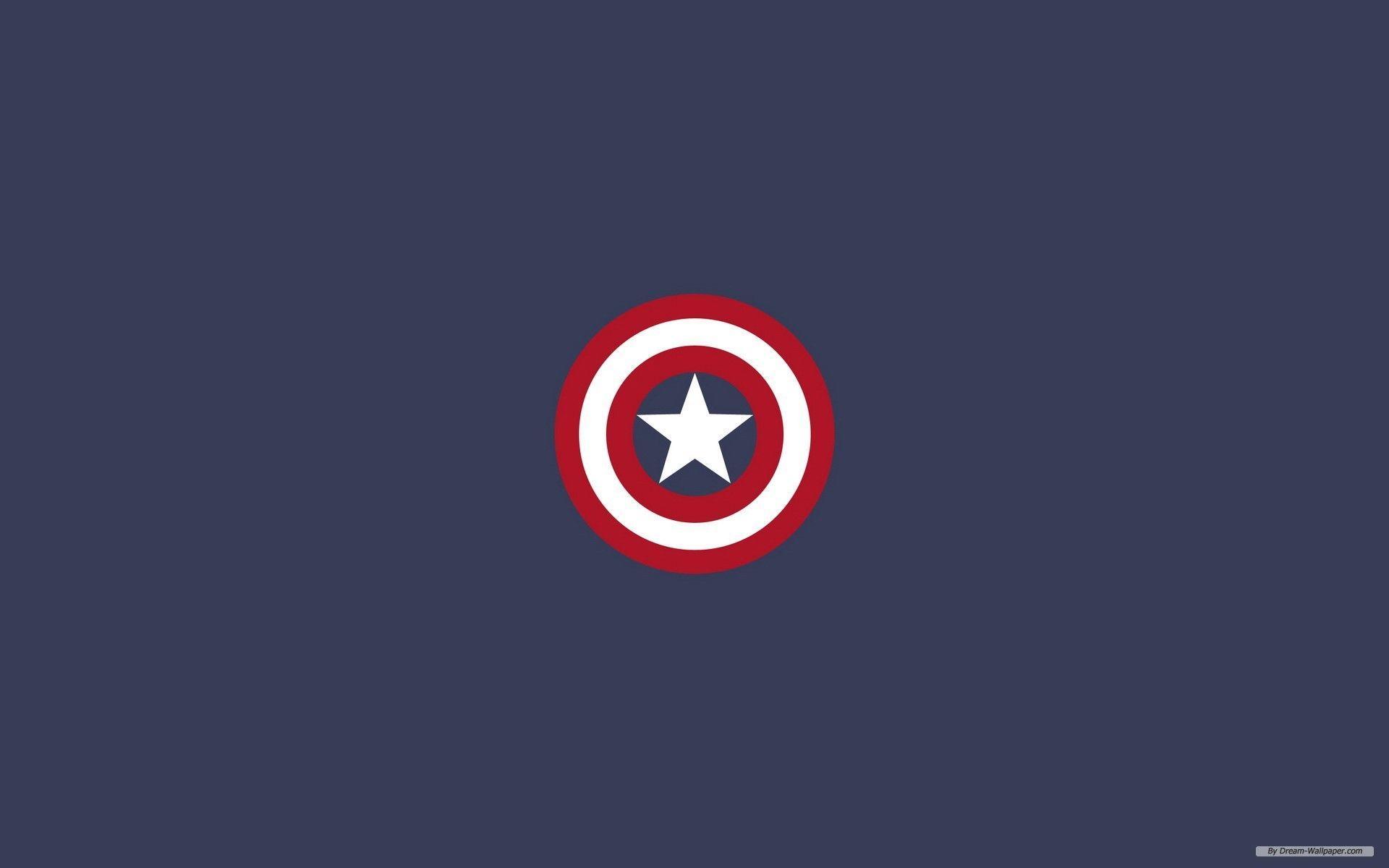 Captain America Minimal Wallpapers Wallpaper Cave