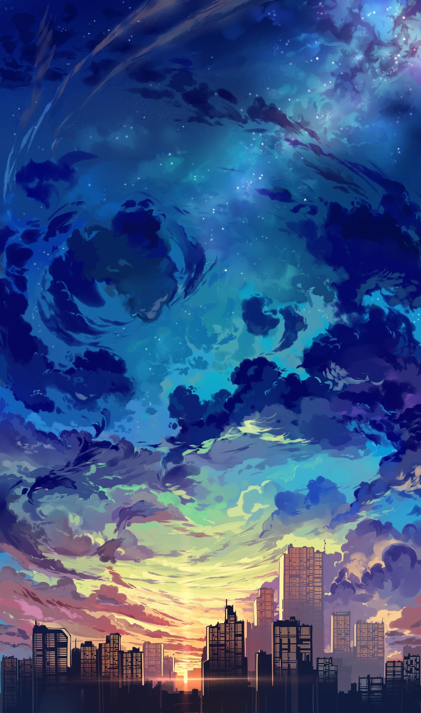aesthetic sky anime wallpapers