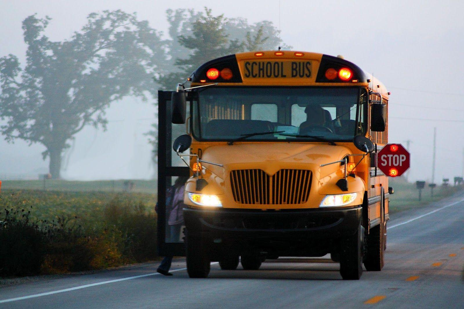 Wallpapers and pictures: School bus in the morning hd wallpapers