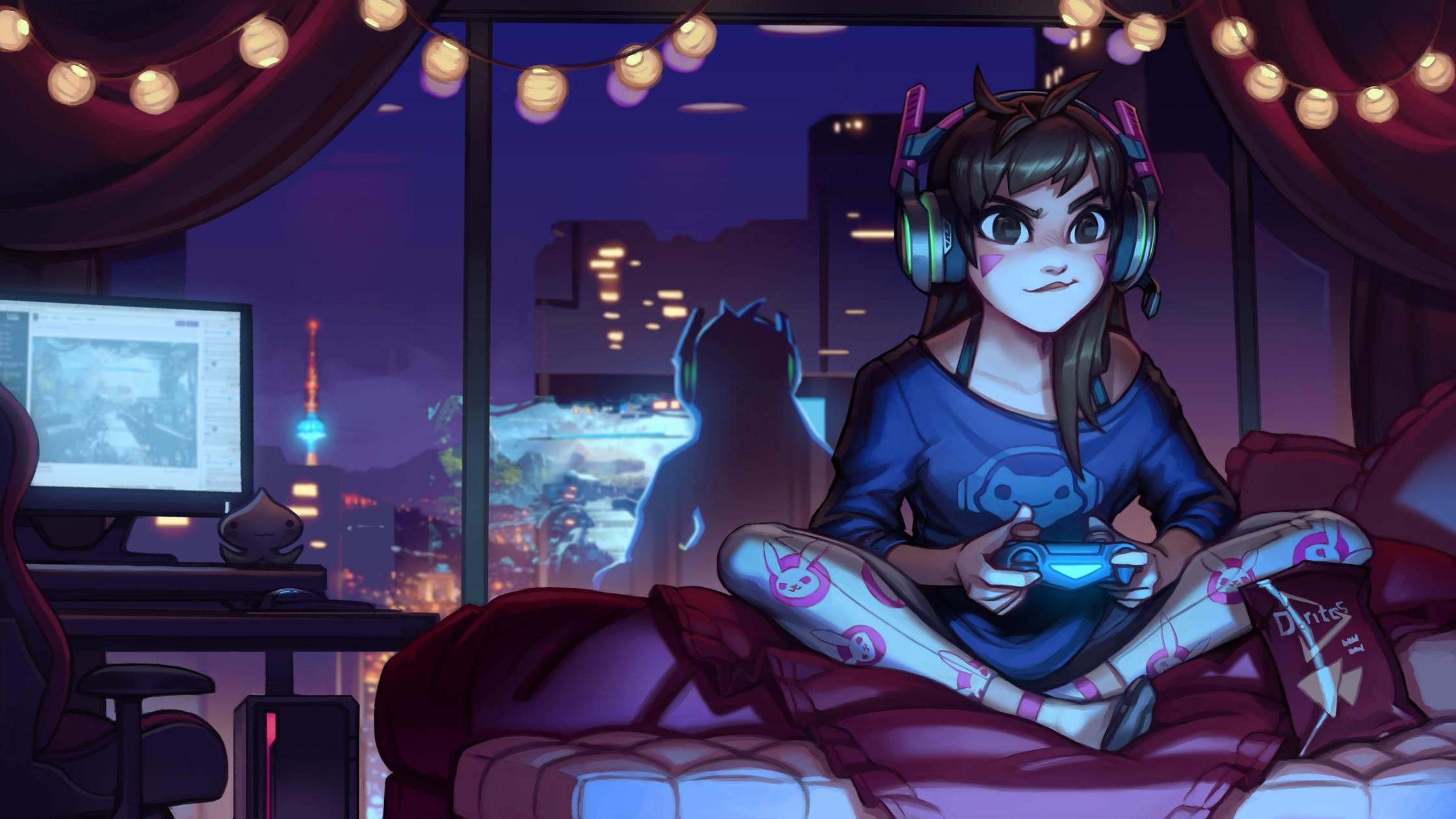 Anime Gamer Girl Wallpapers Wallpaper Cave
