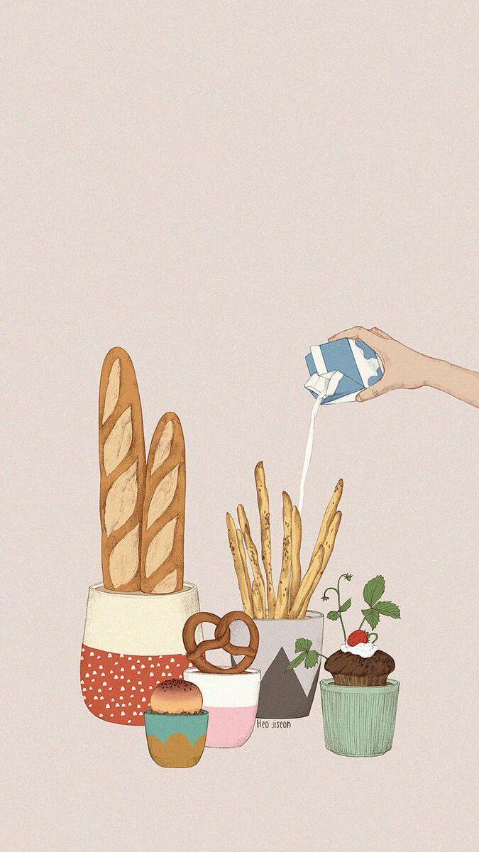 aesthetic food wallpaper