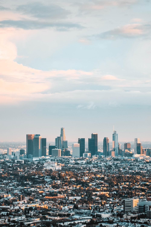 Los Angeles Skyline Wallpapers Wallpaper Cave