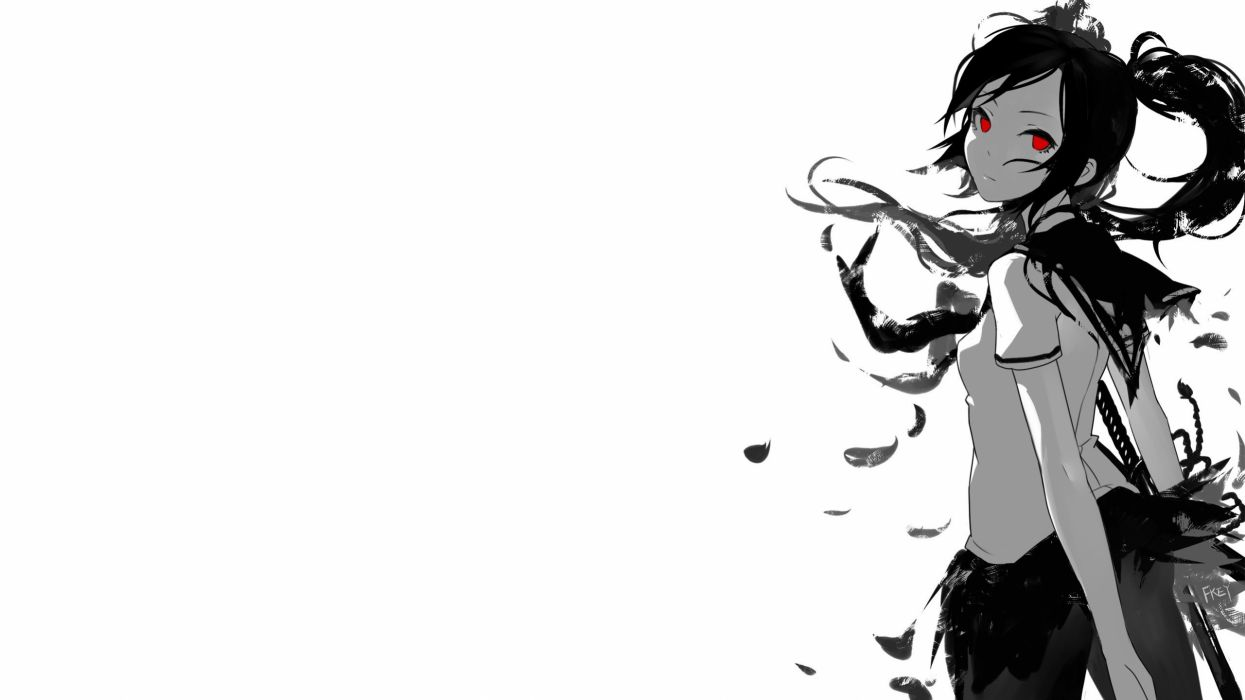 Grayscale Anime Wallpapers Wallpaper Cave
