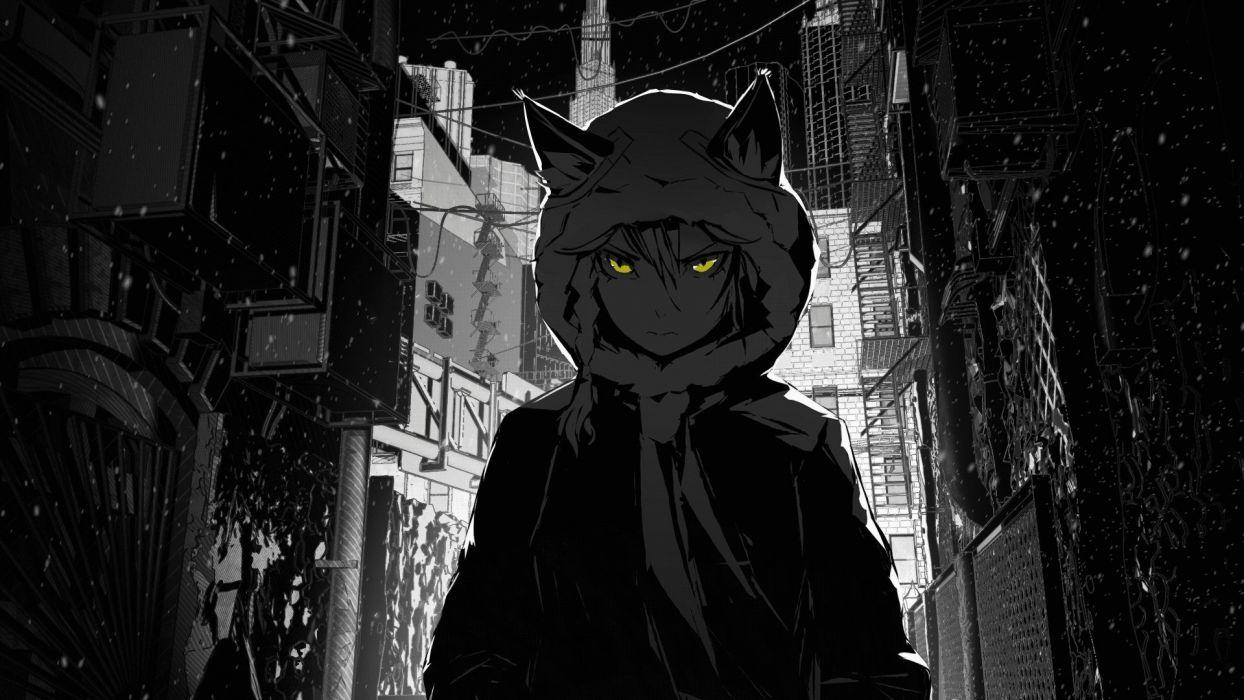 Grayscale Anime Wallpapers