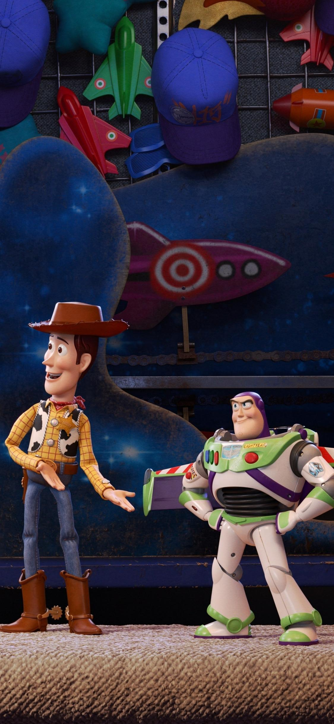 Download 1125x2436 wallpapers toy story 4, woody, buzz