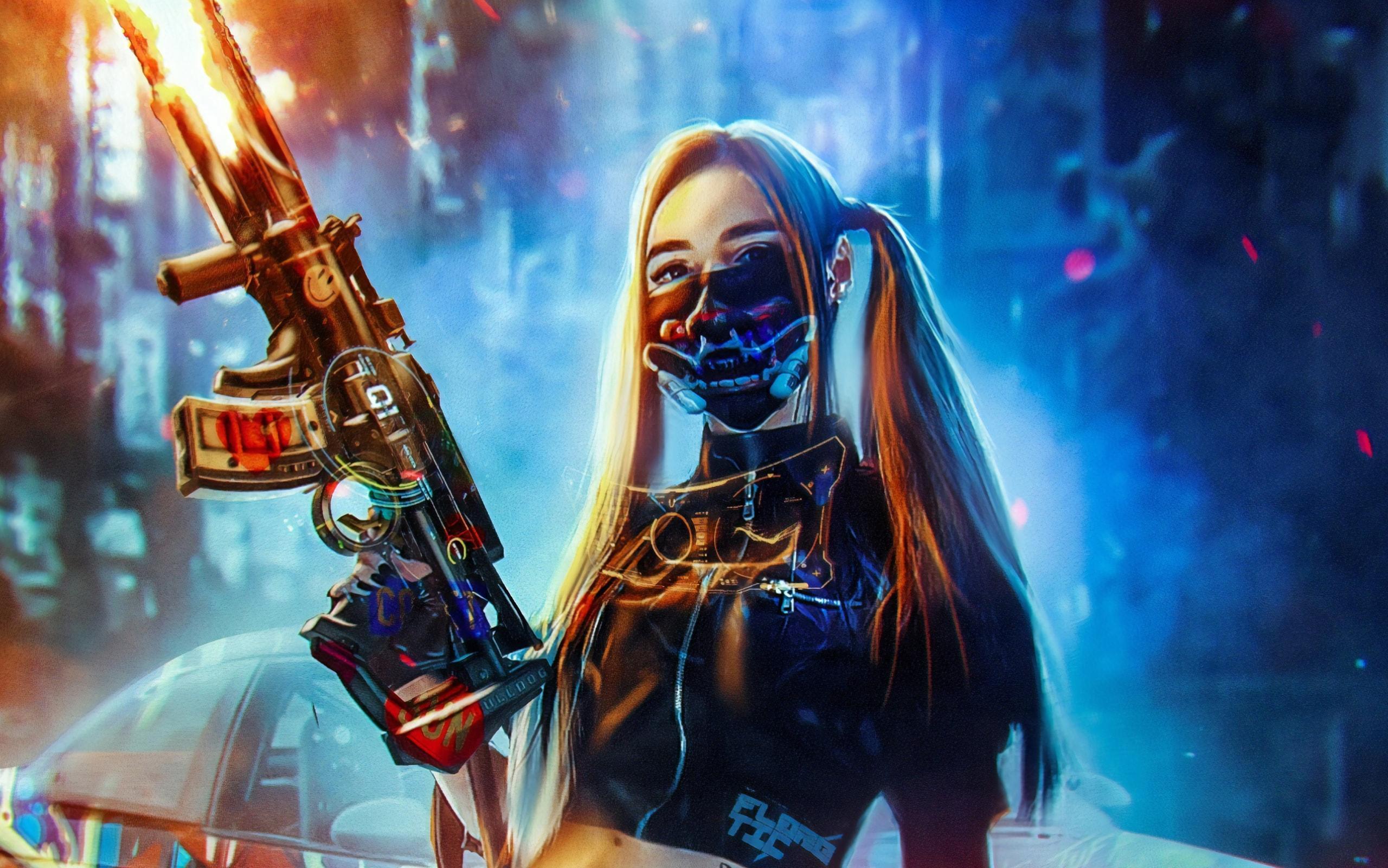 Cyberpunk Girl Wallpapers - Wallpaper Cave