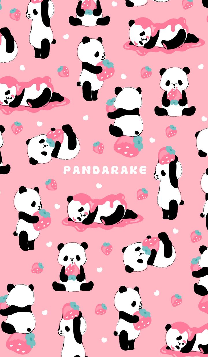 Wallpaper Gambar Kartun Panda Lucu Imut Pink
