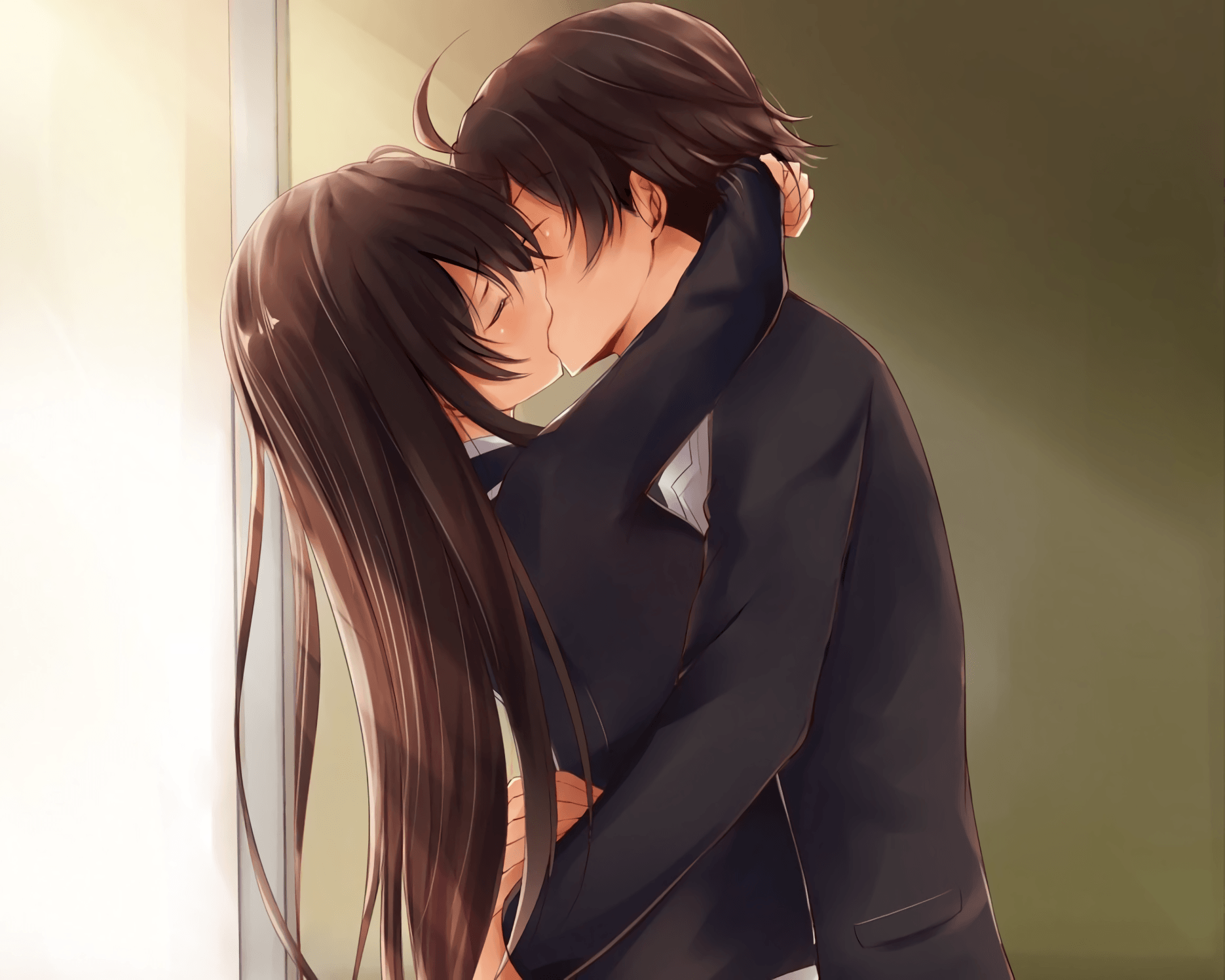 Anime Kiss Wallpapers Wallpaper Cave