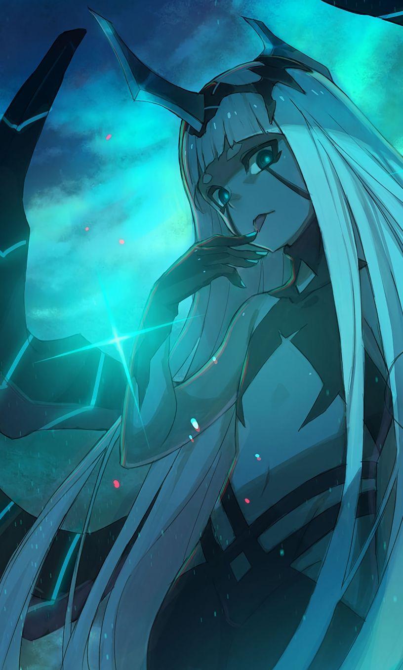 Darling in the FRANXX Kentaro Yabuki Art Sheet Zero Two /& Princess of Klaxosaurs