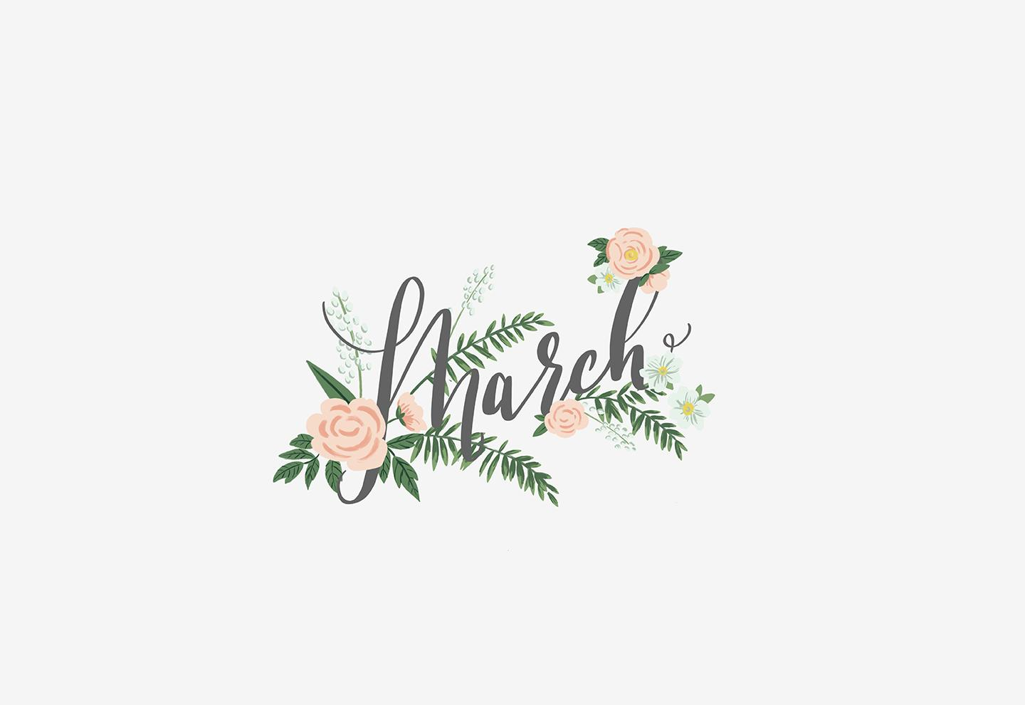 Hello, March! [Digital Wallpapers Download]