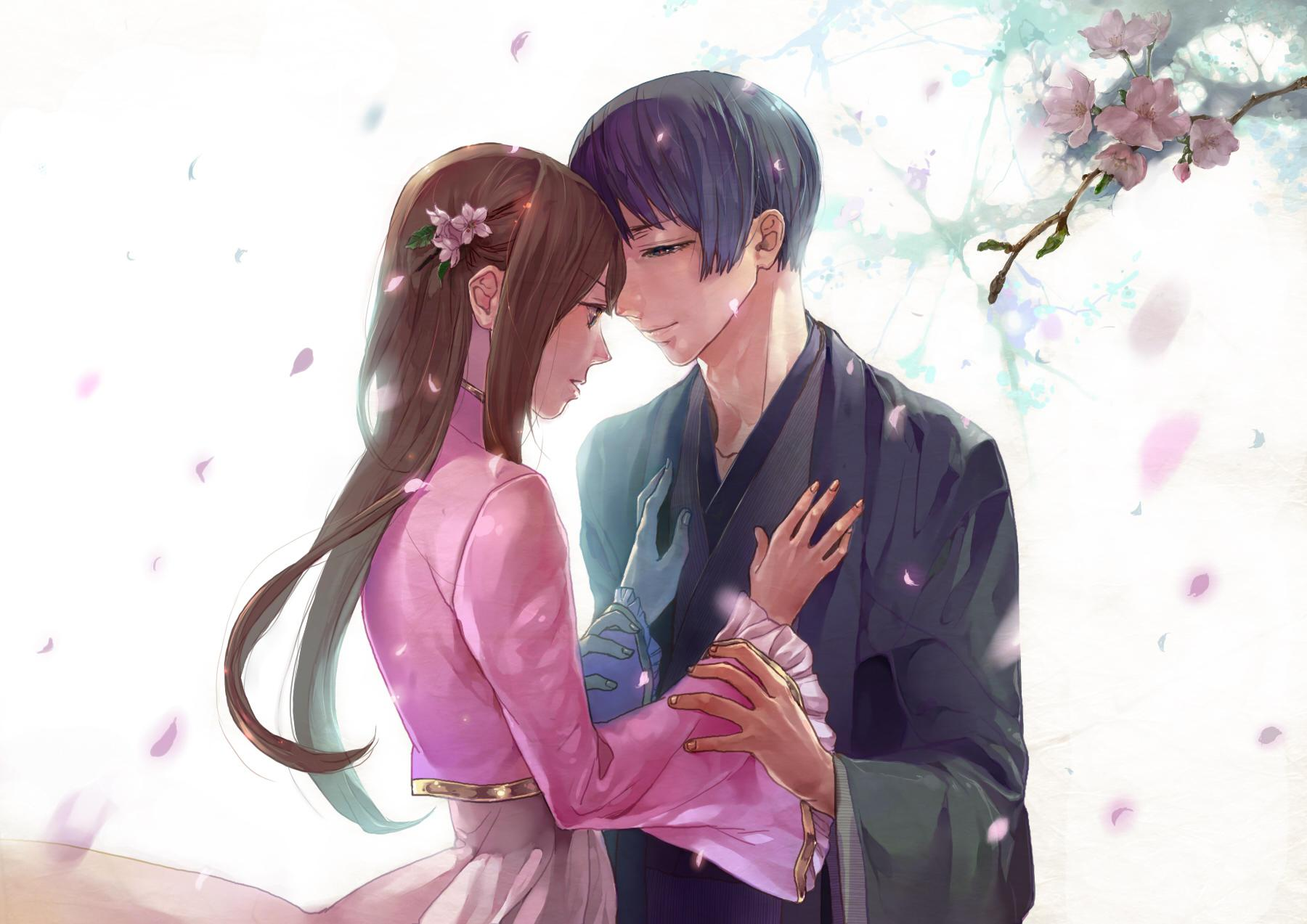 Cartoon Anime Couple Wallpapers Wallpaper Cave