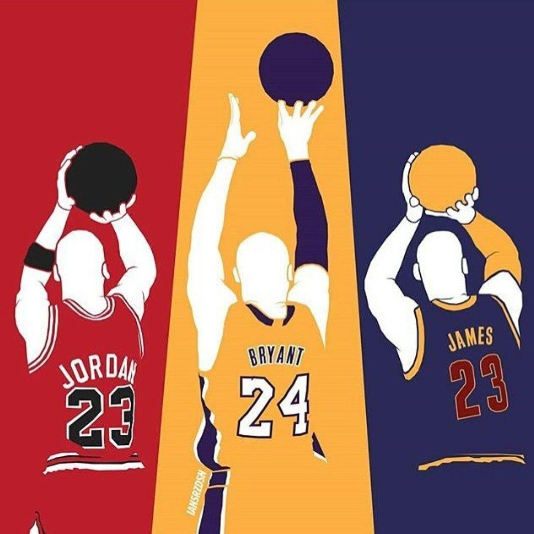 Kobe Bryant Lebron James And Michael Jordan Wallpapers Wallpaper Cave