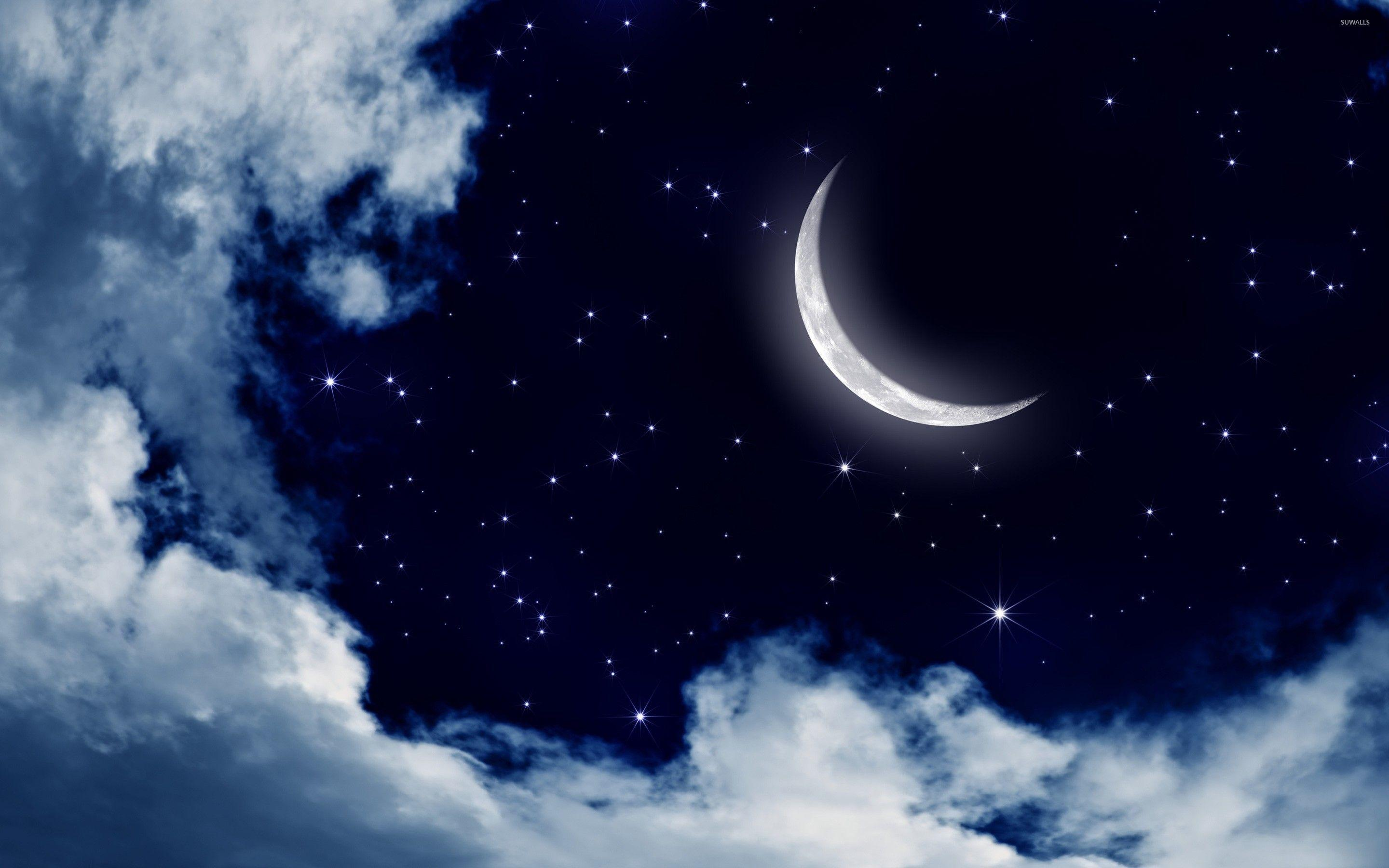 Sky And Moon Wallpapers Wallpaper Cave