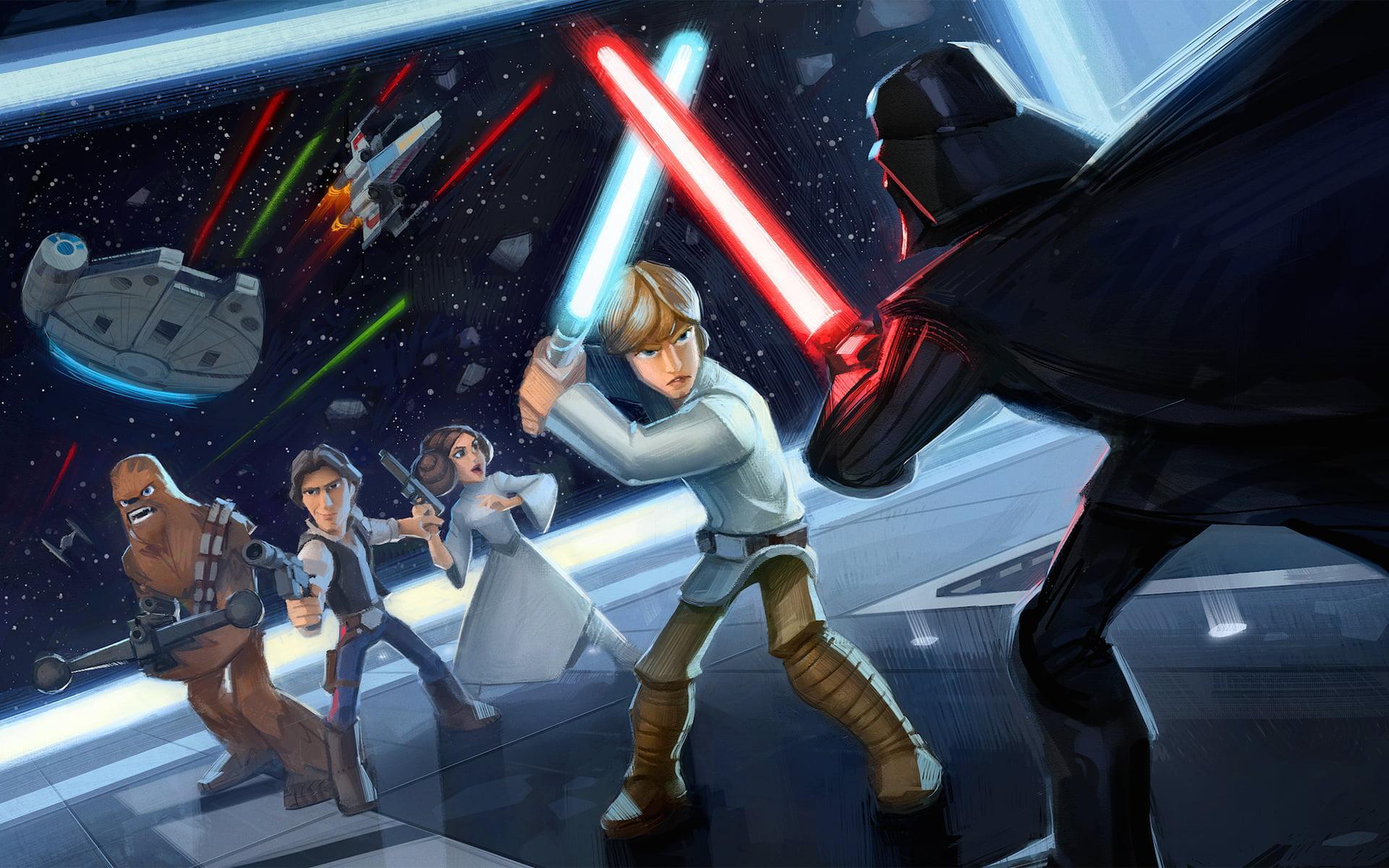 Jakku Scavenger On Twitter Luke Skywalker Vs Darth Vader Http