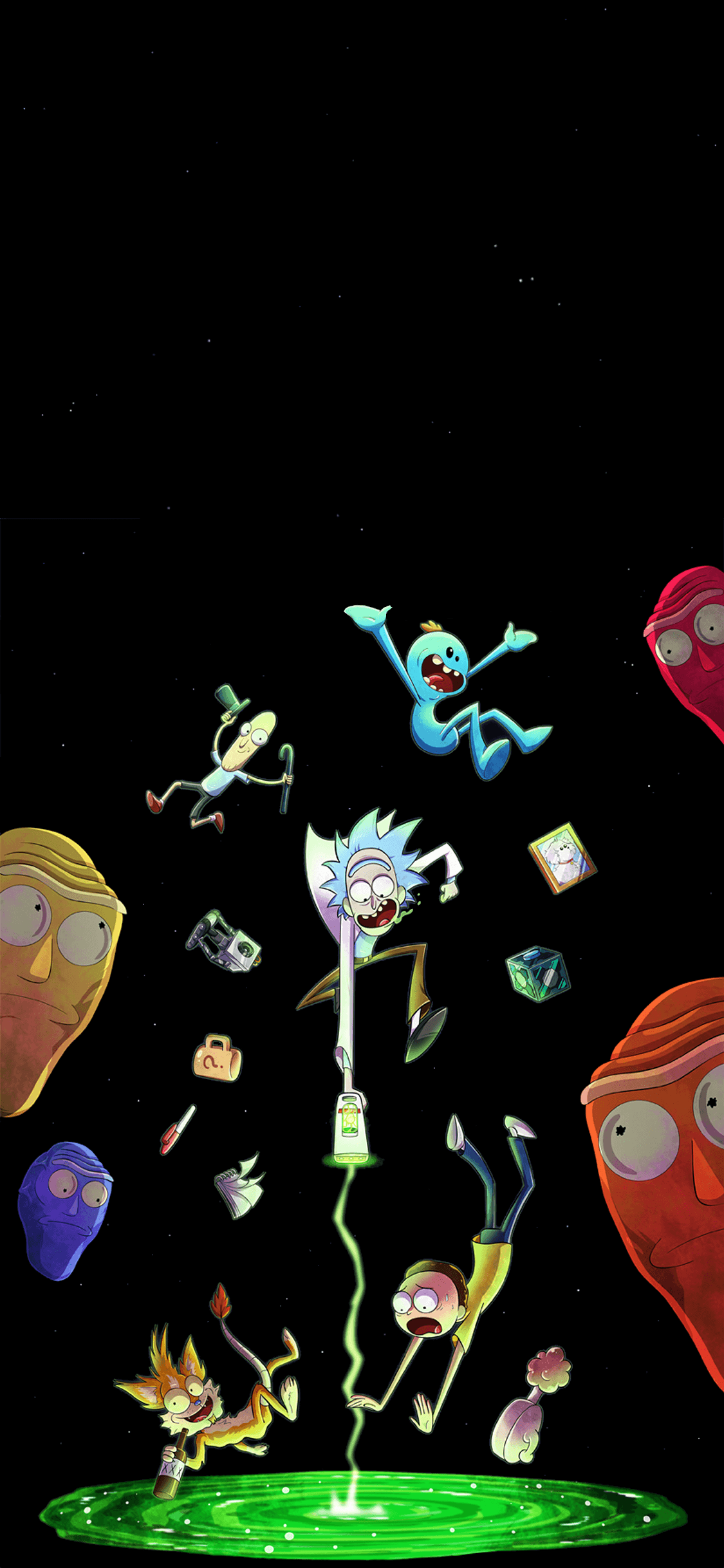 Amoled Rick And Morty Wallpapers - Wallpaper Cave