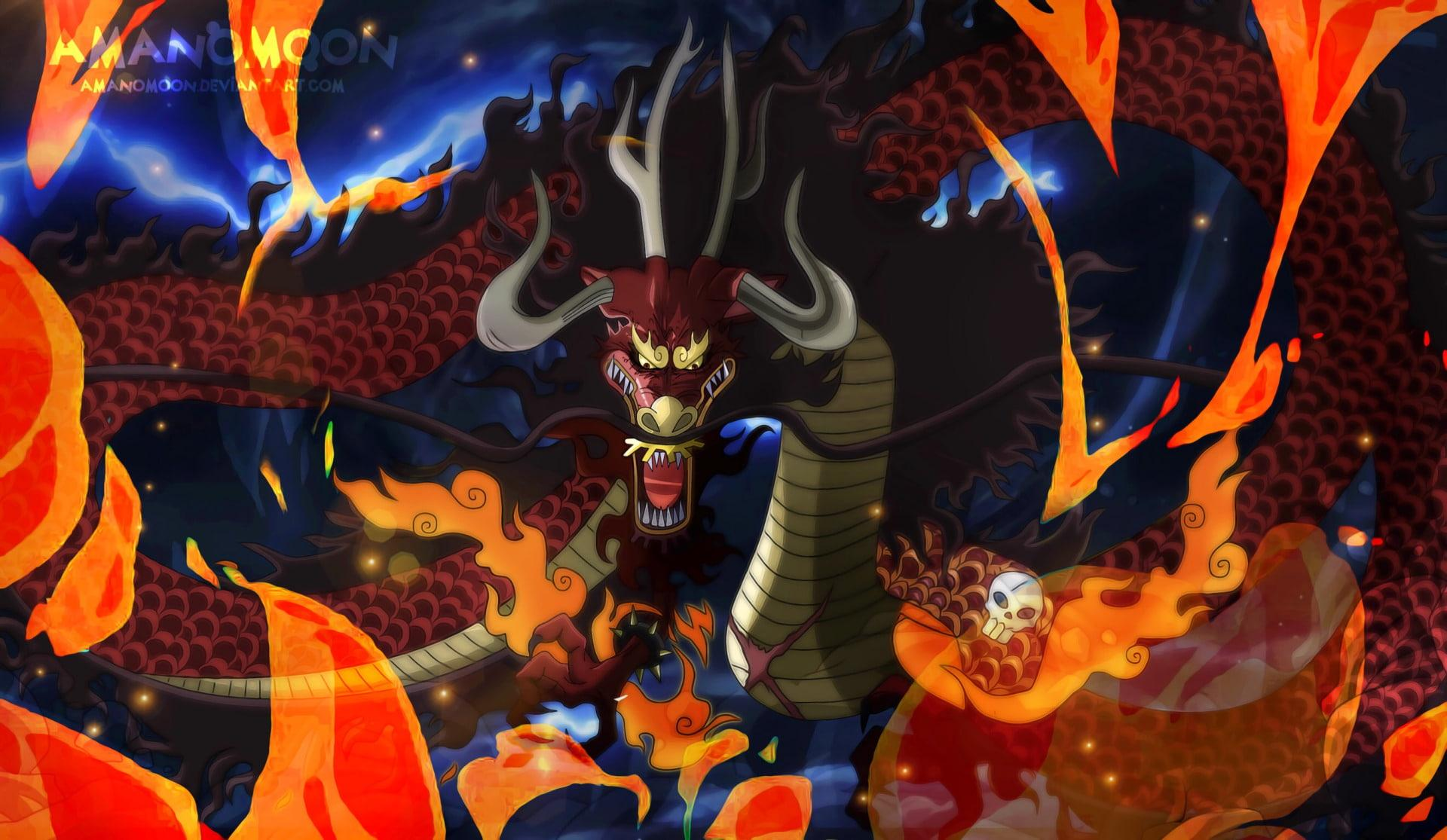 Anime, One Piece, Kaido