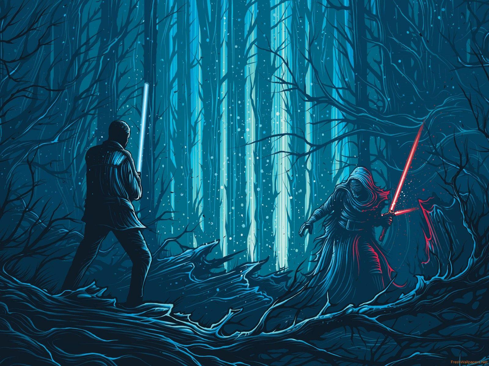 Kylo Ren Vs Rey Wallpapers Wallpaper Cave