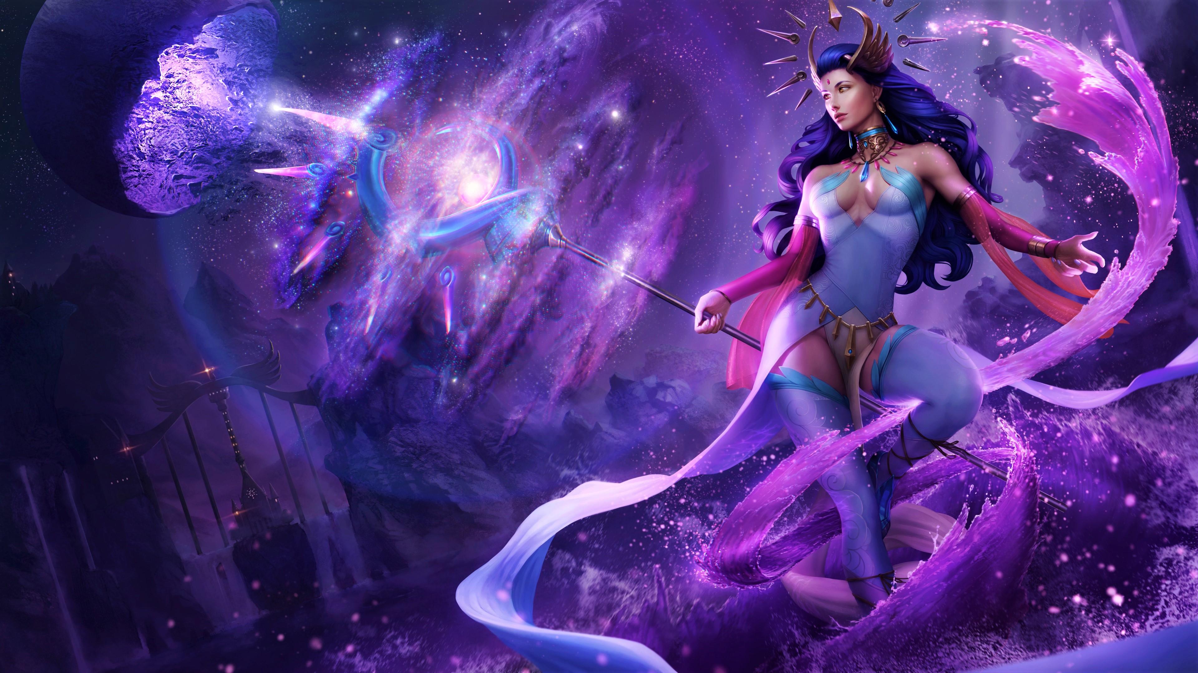 Purple Fantasy Girl Wallpapers Wallpaper Cave