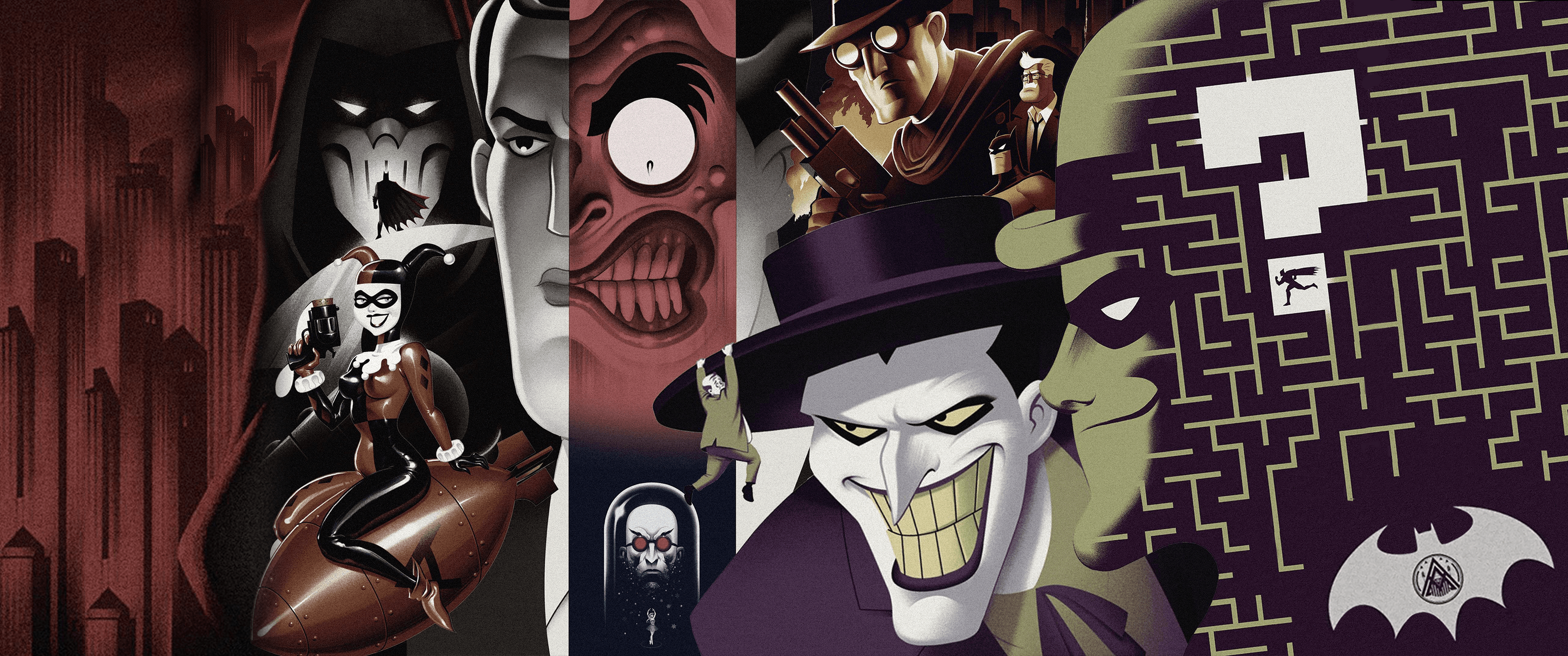Batman The Animated Series Wallpapers Wallpaper Cave
