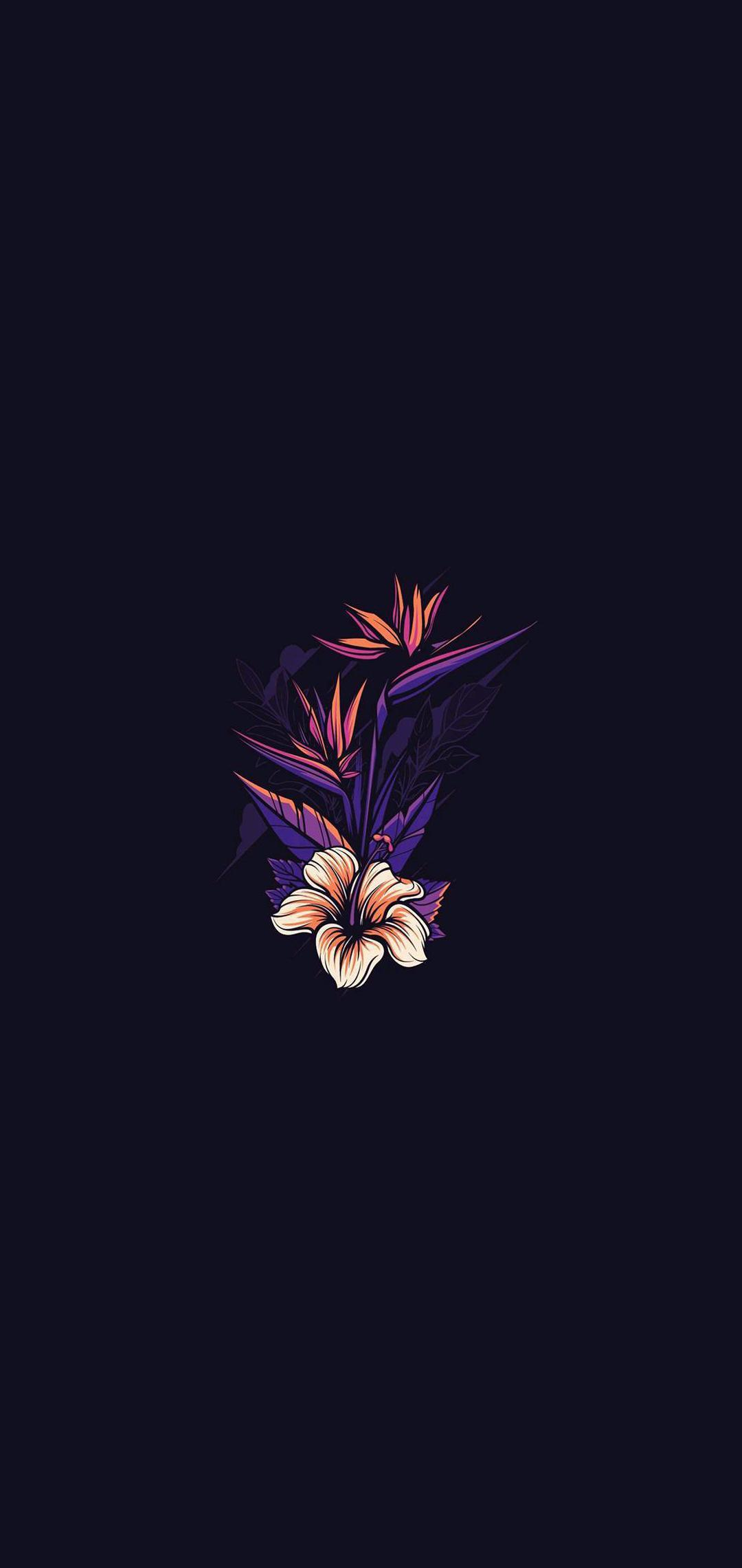 Amoled Black Flowers Wallpapers Wallpaper Cave