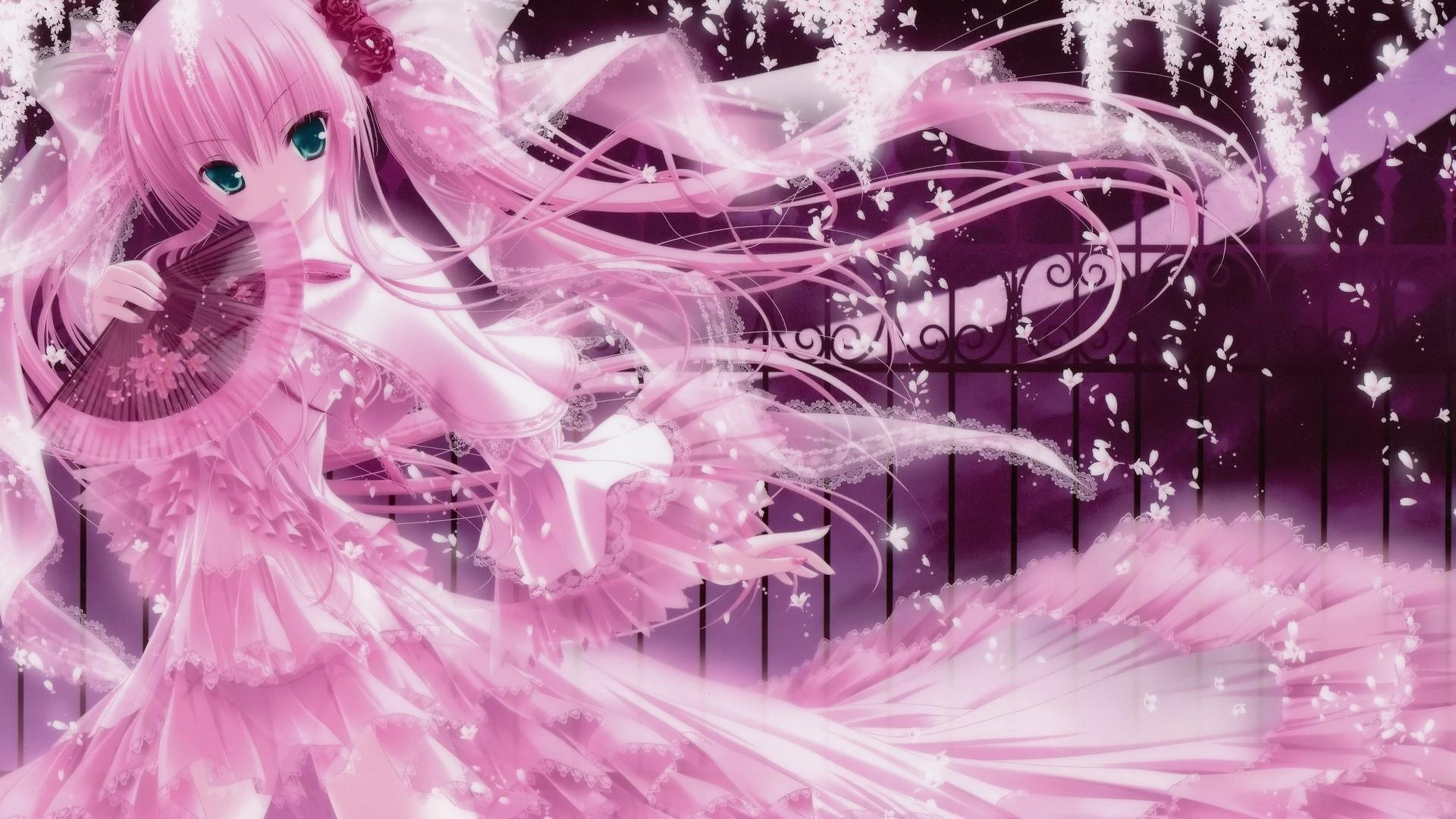 1920x1080 Pink Anime Wallpapers Wallpaper Cave