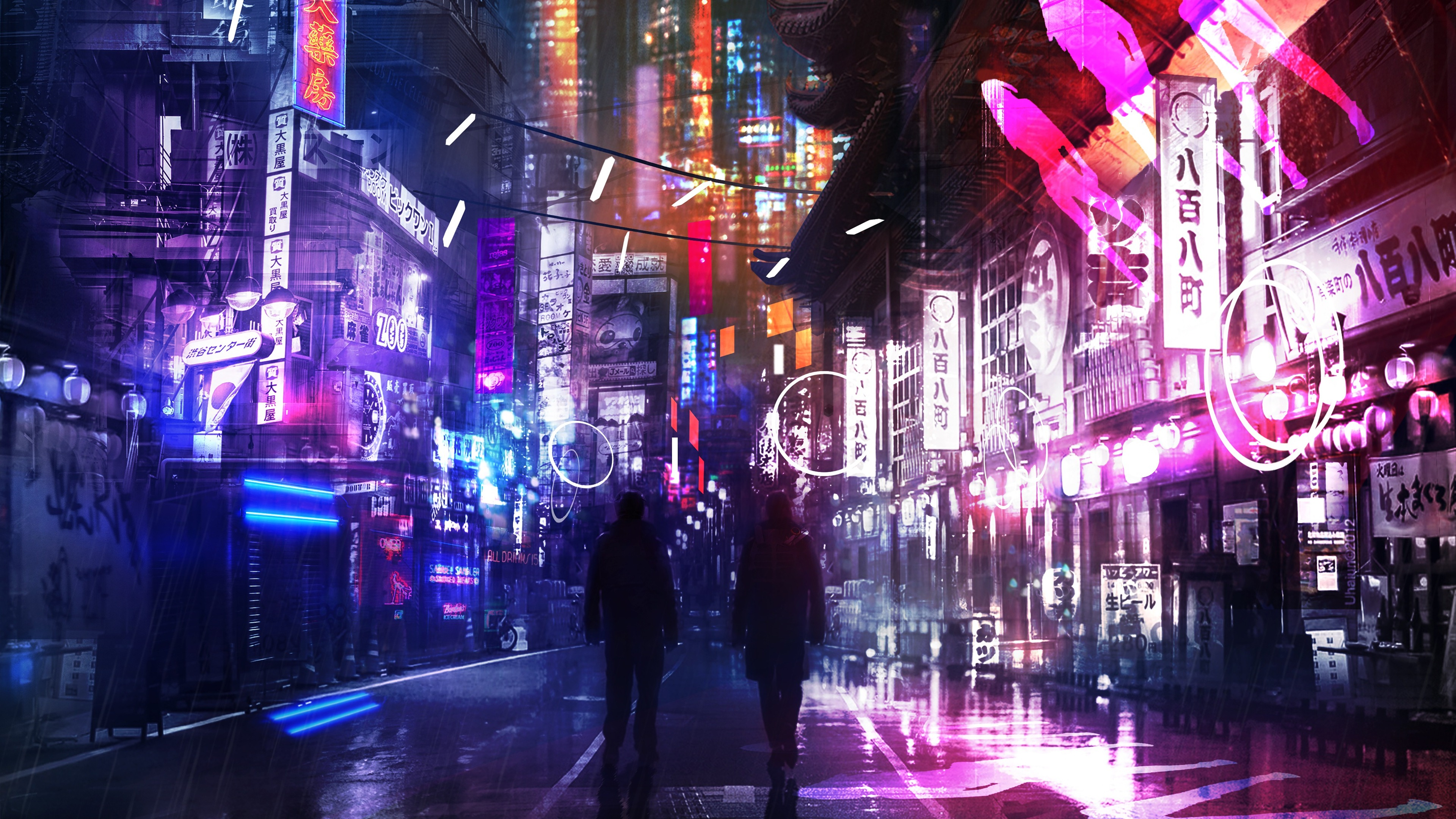 Anime Futuristic City Neon Wallpapers Wallpaper Cave