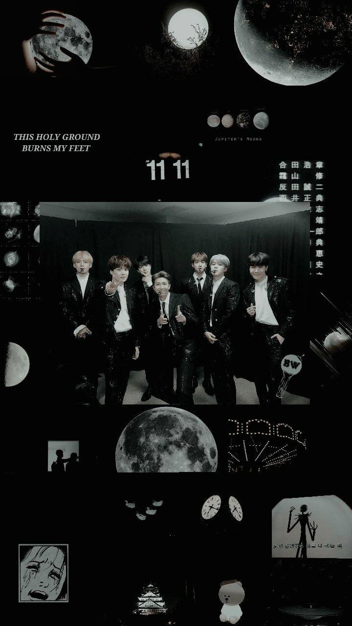 Bts Black Aesthetic Wallpapers Wallpaper Cave