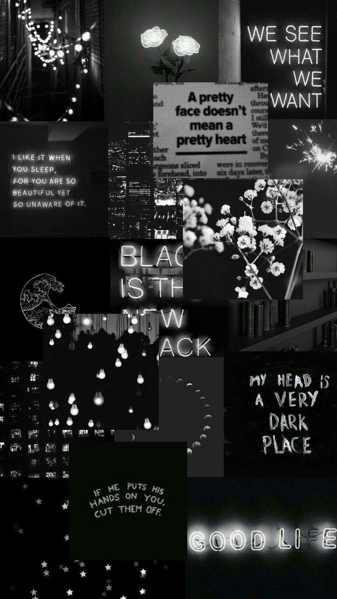 Aesthetic Black White Wallpapers Wallpaper Cave