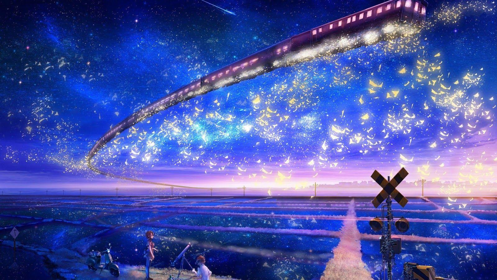 Beautiful Sky Anime Wallpapers Wallpaper Cave