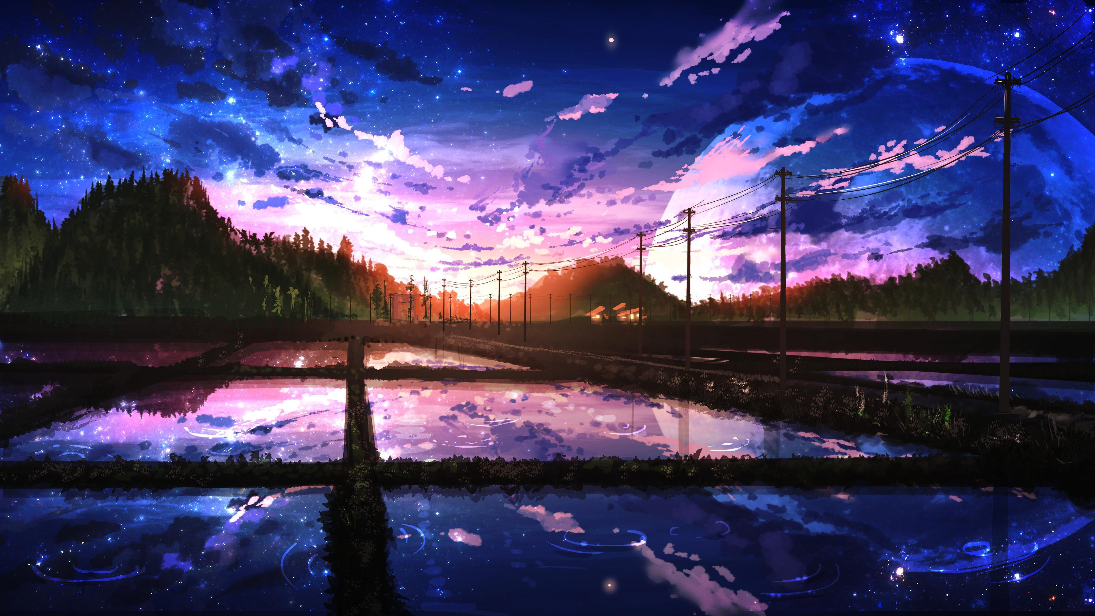 Beautiful Sky Anime Wallpapers - Wallpaper Cave