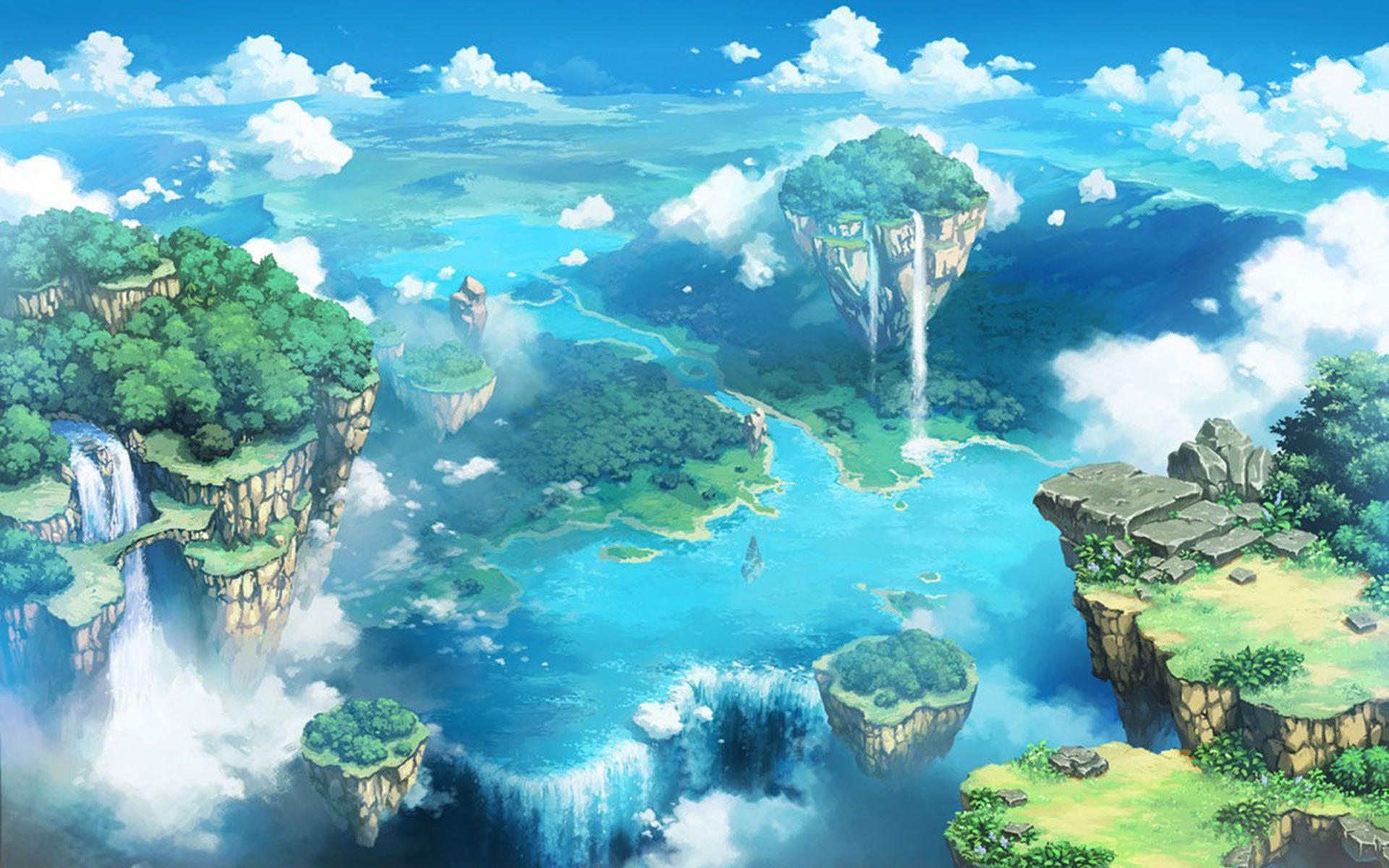 Backgrounds Anime Landscape Download. in 2020