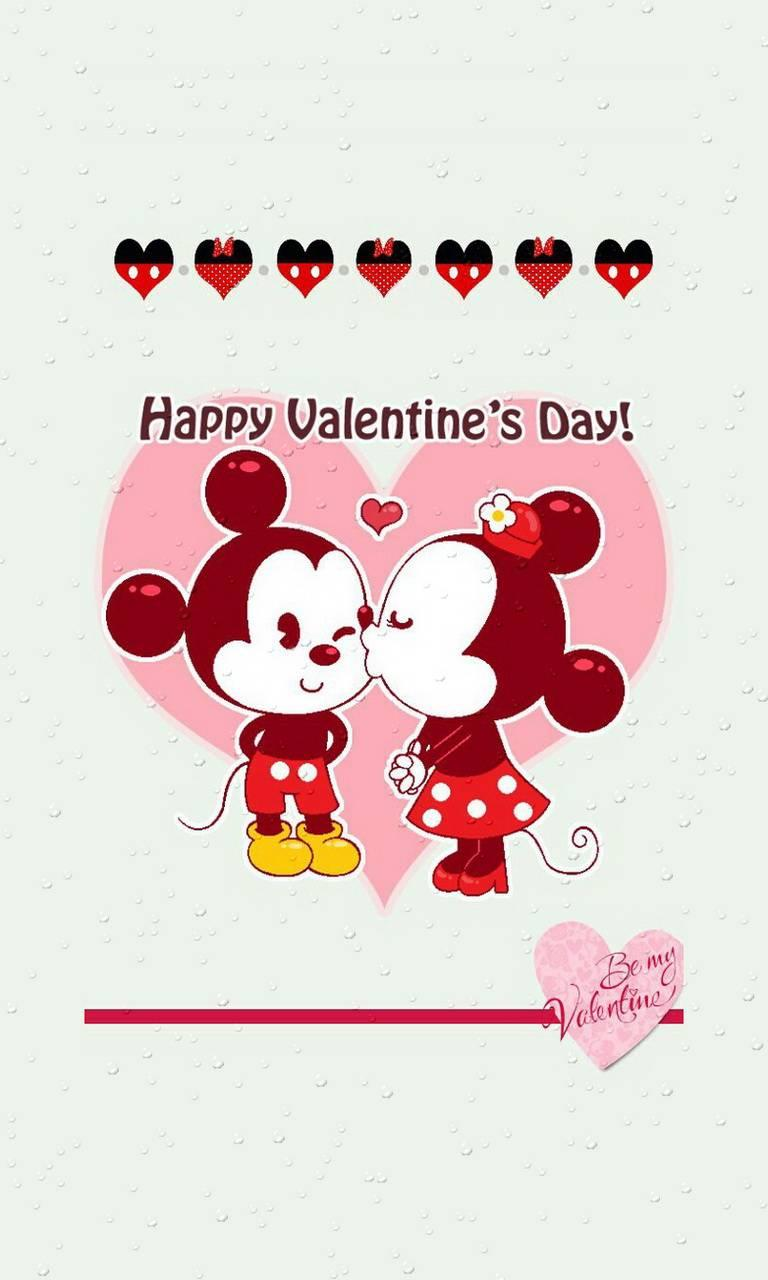 Mickey Mouse Valentine S Day Wallpapers Wallpaper Cave