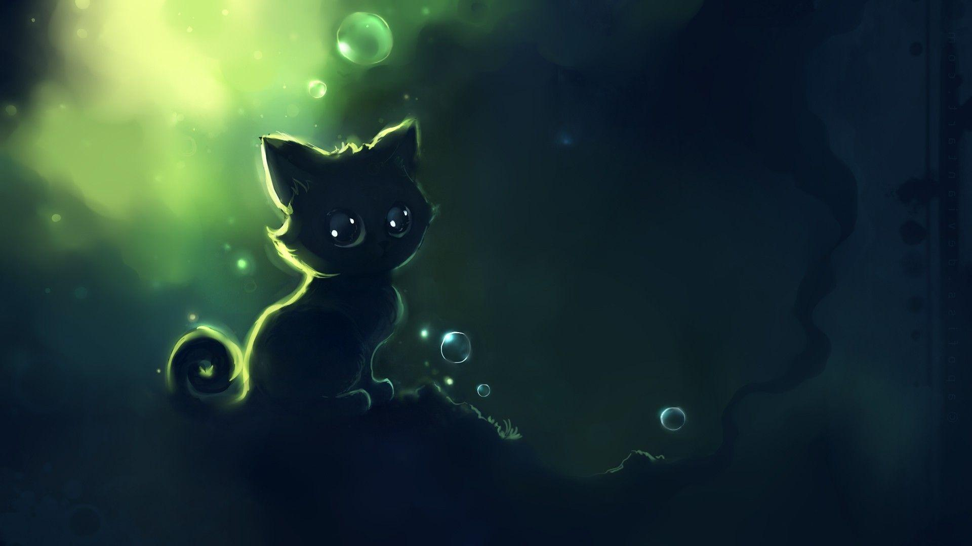 Cute Kitty Cat Anime Wallpapers Wallpaper Cave