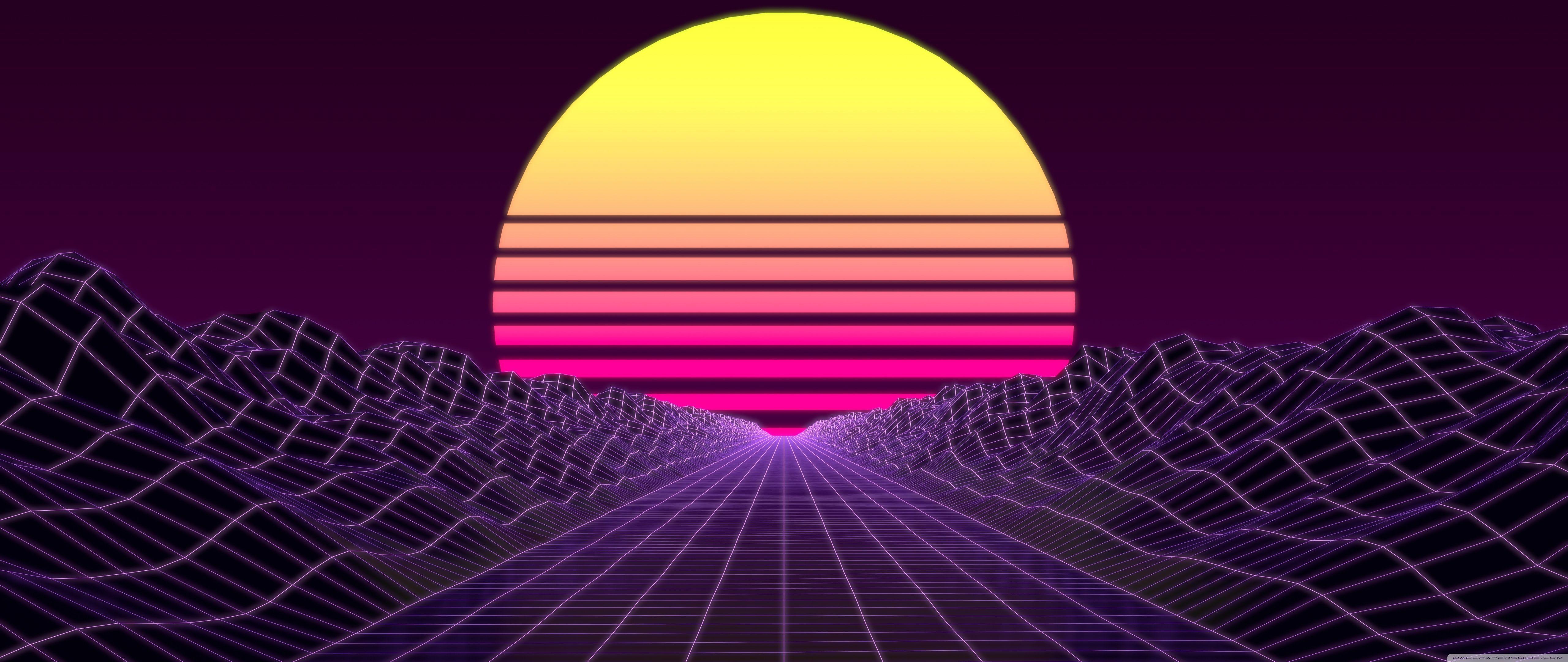 Synthwave Desktop Wallpapers Wallpaper Cave