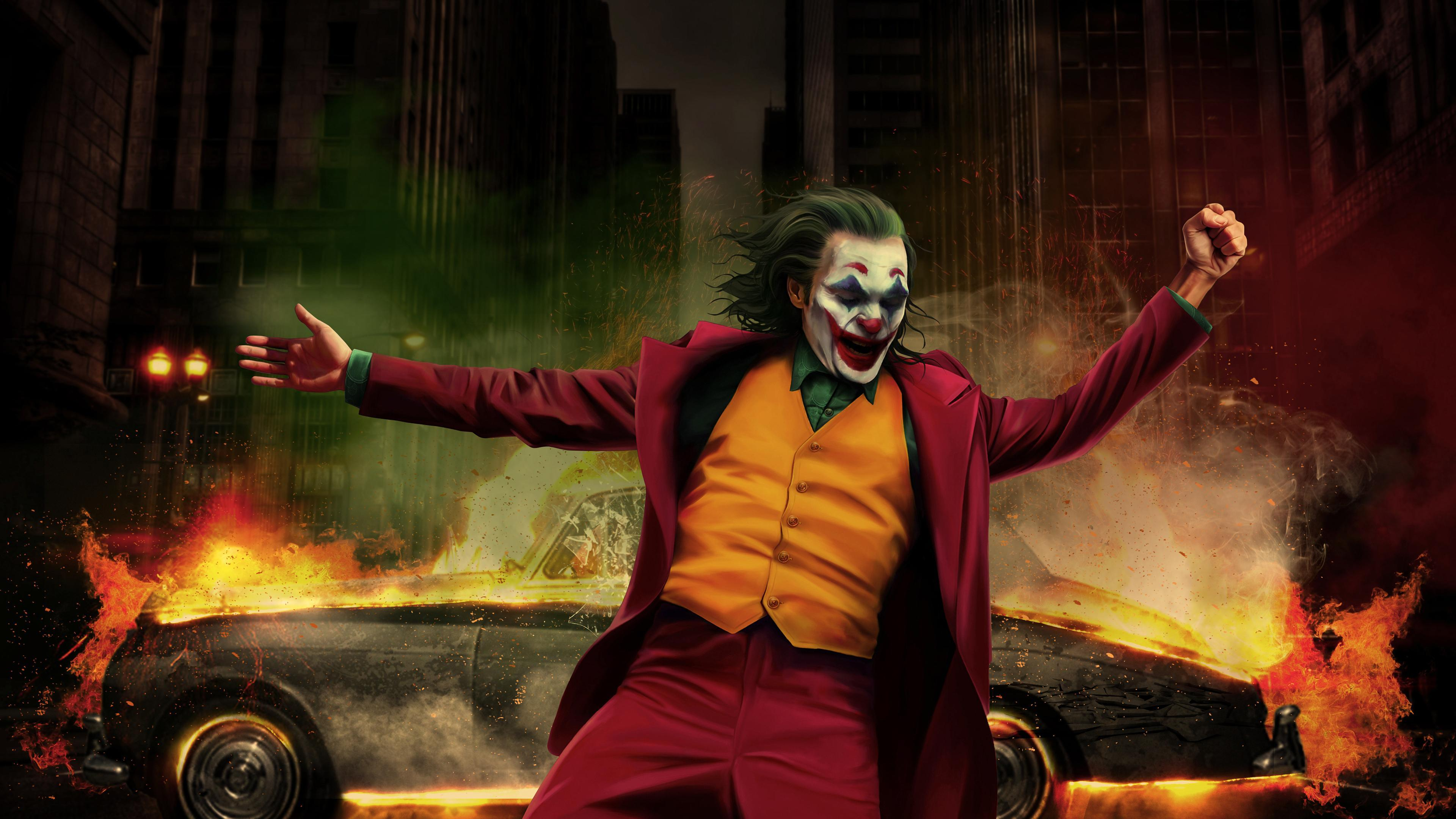 Wallpapers 4k Joker Happy Dancing 4k