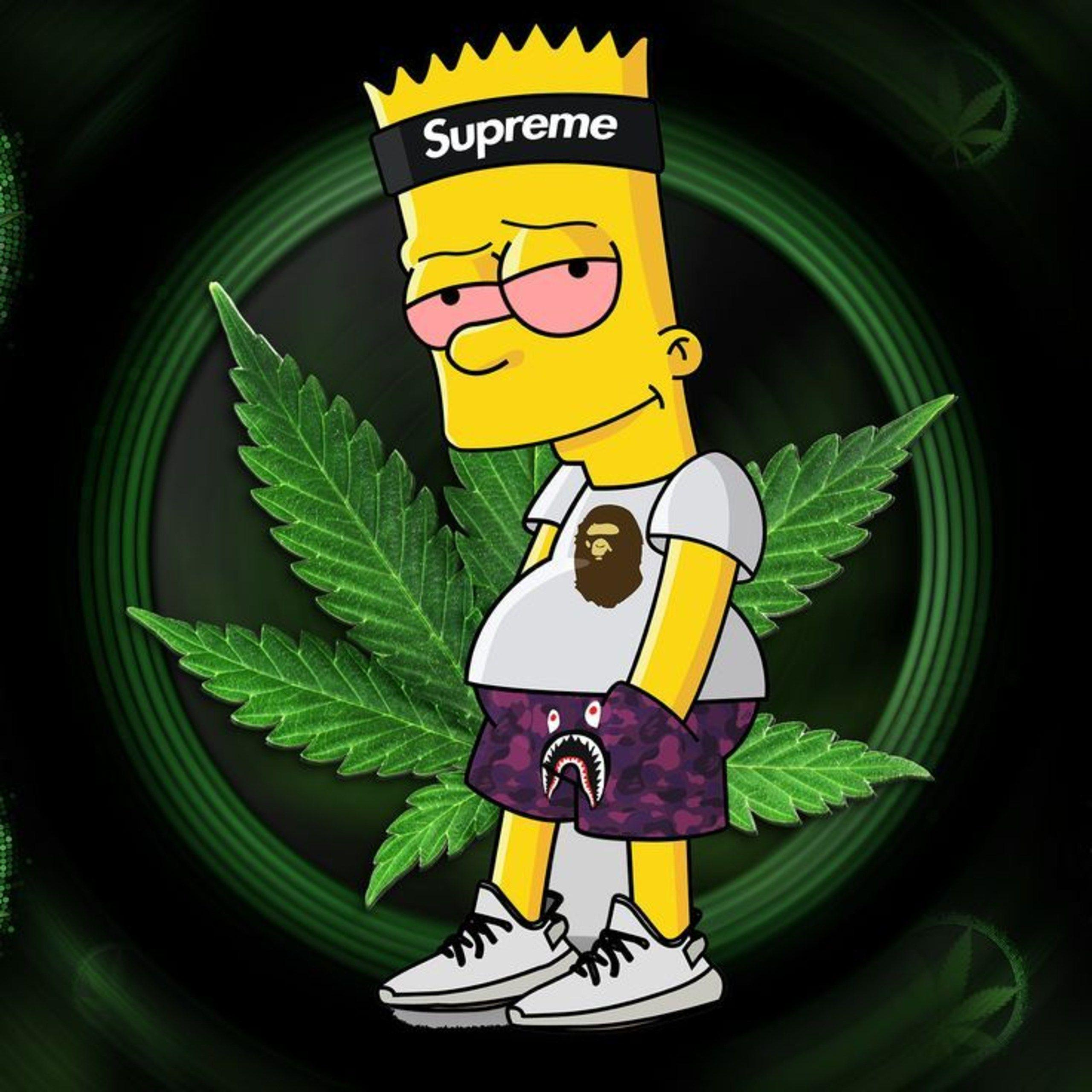 stoner mickey mouse weed wallpaper