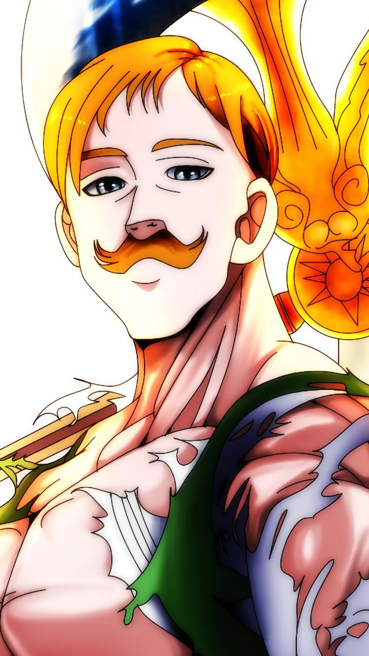 Download 750x1334 wallpapers escanor, the seven deadly sins, anime