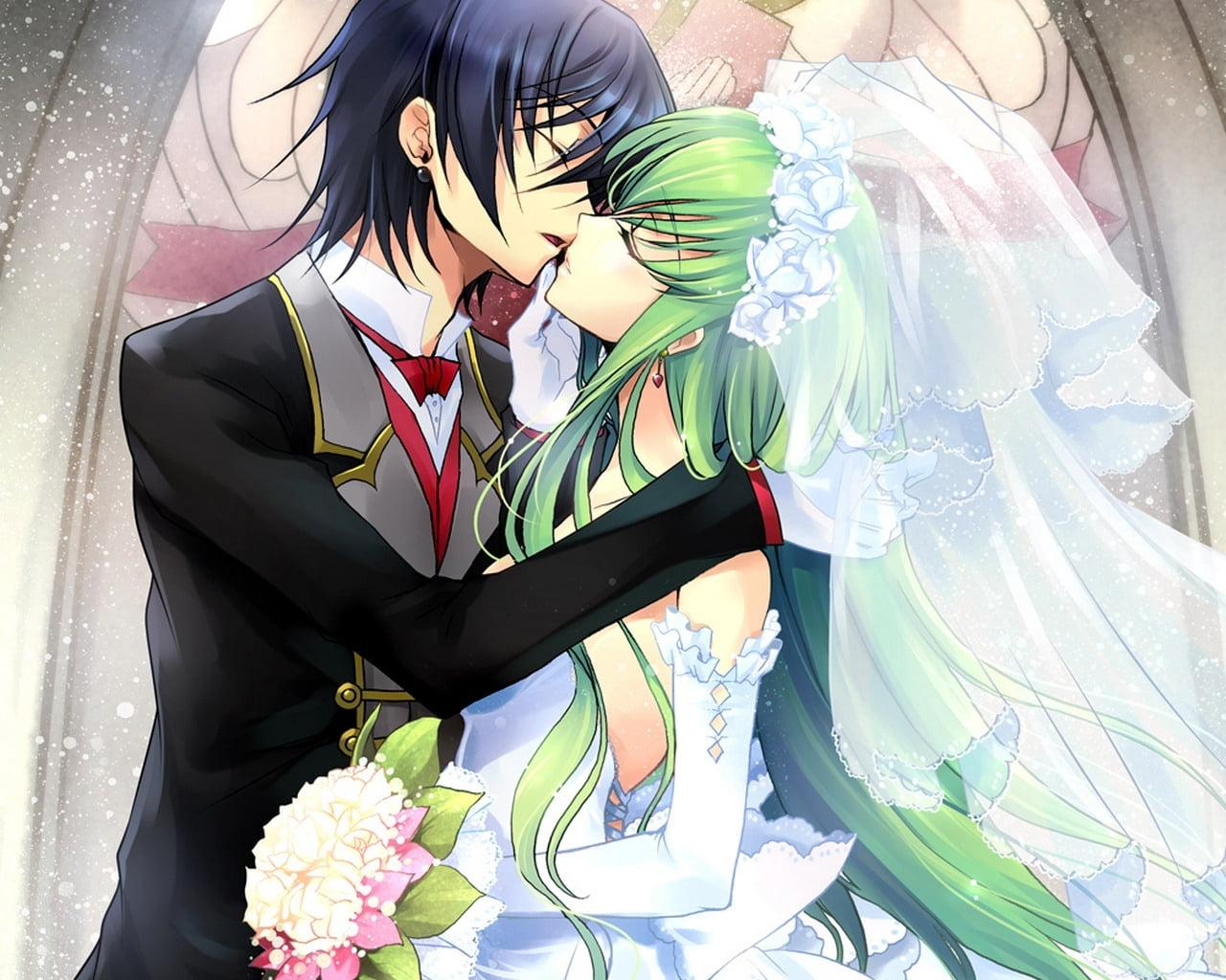 Anime Boy And Girl Kissing Wallpapers - Wallpaper Cave