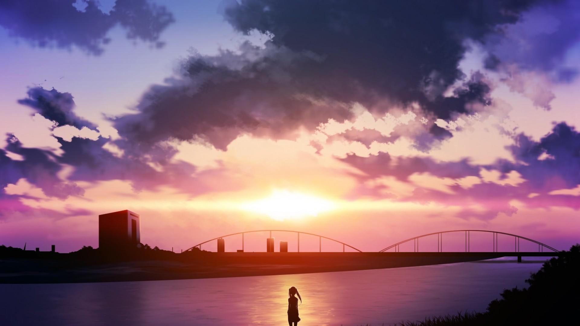 Sky Anime Scenery Wallpapers - Wallpaper Cave