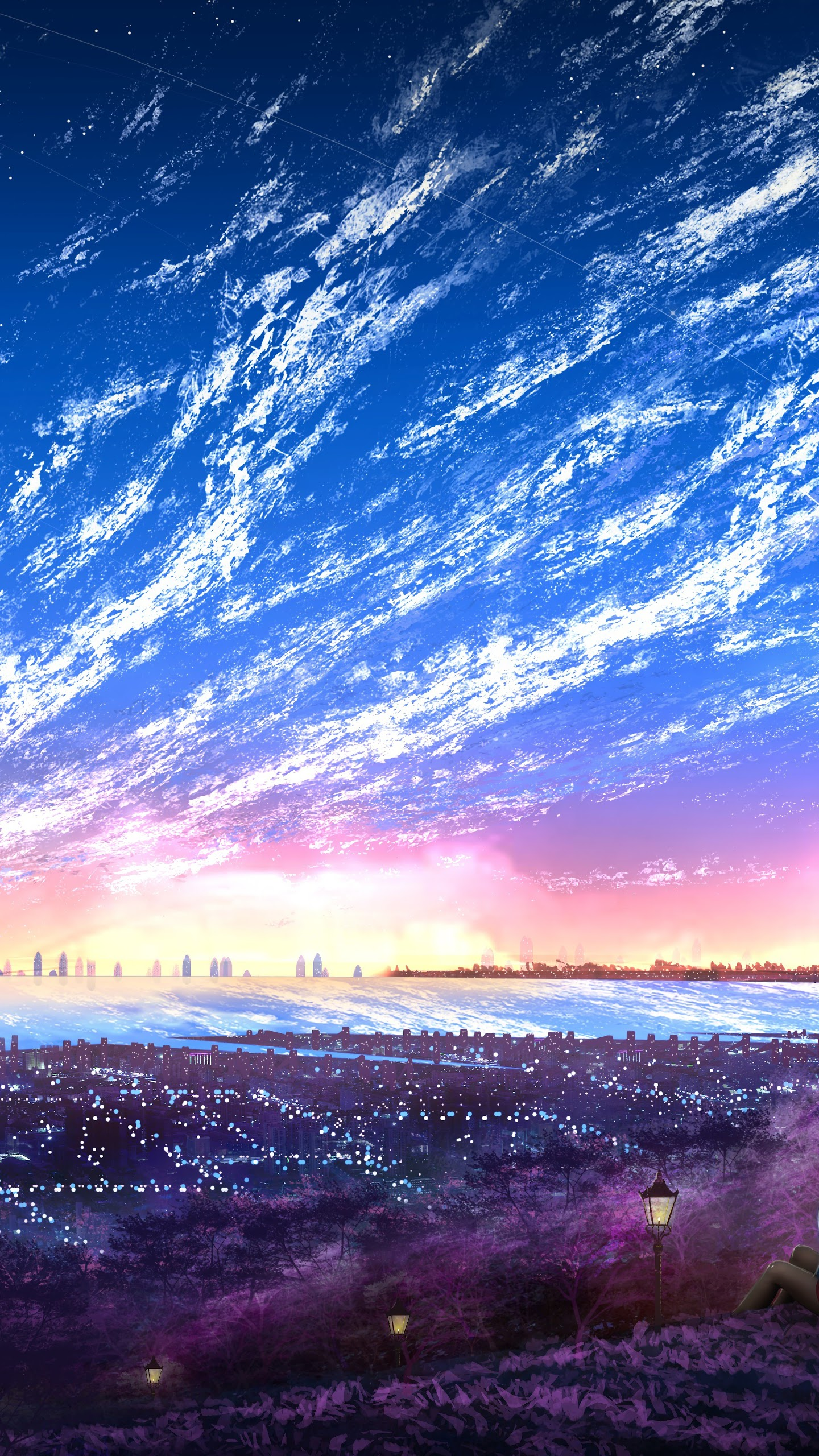 Sky Anime Scenery Wallpapers Wallpaper Cave