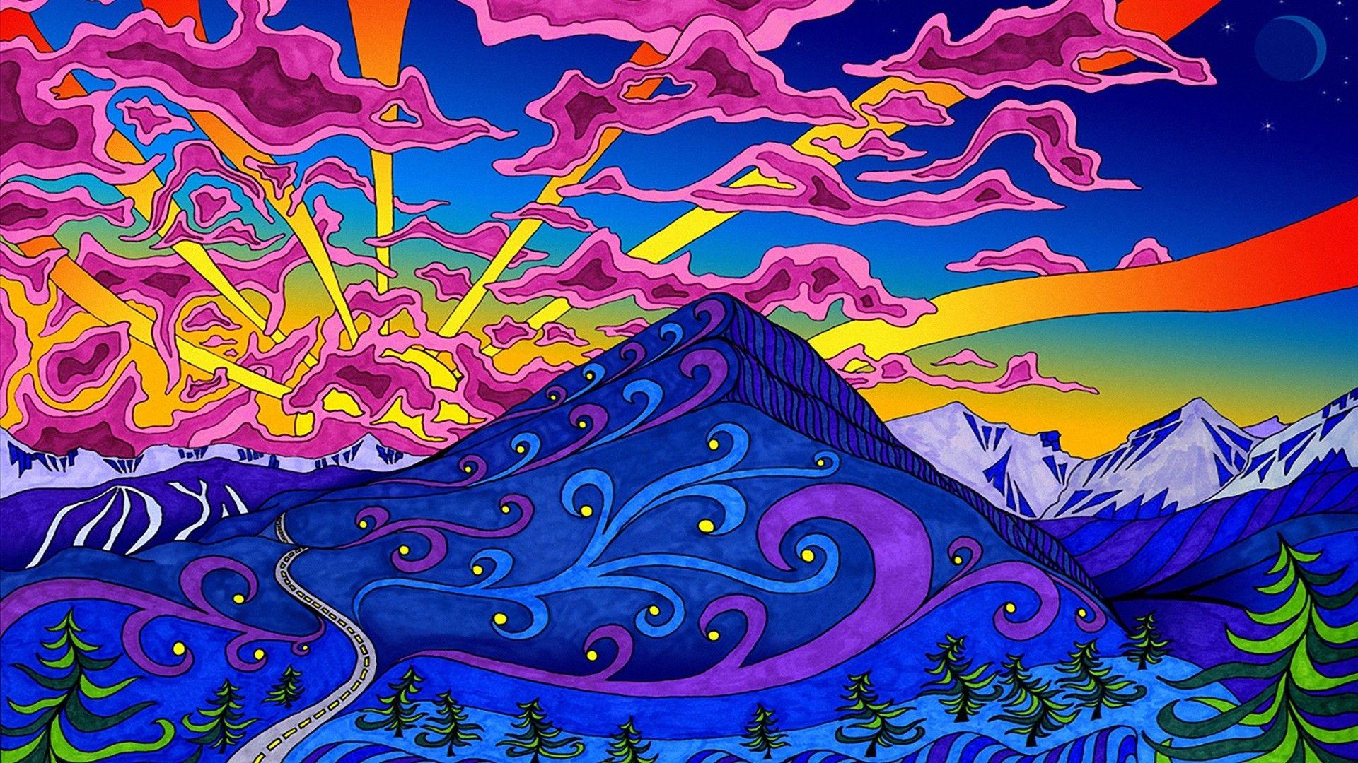 Trippy Cute Hippie Trippy Alien Wallpaper
