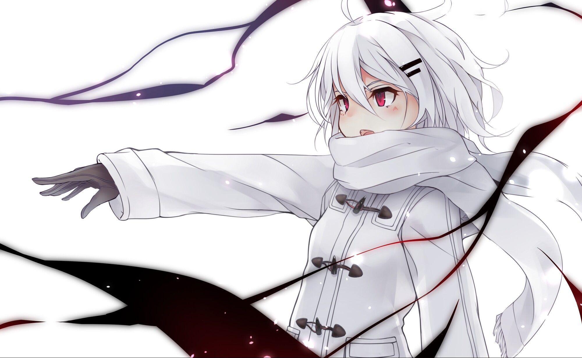 Kawaii Anime Girl White Hair And Red Eyes Wallpapers - Wallpaper Cave