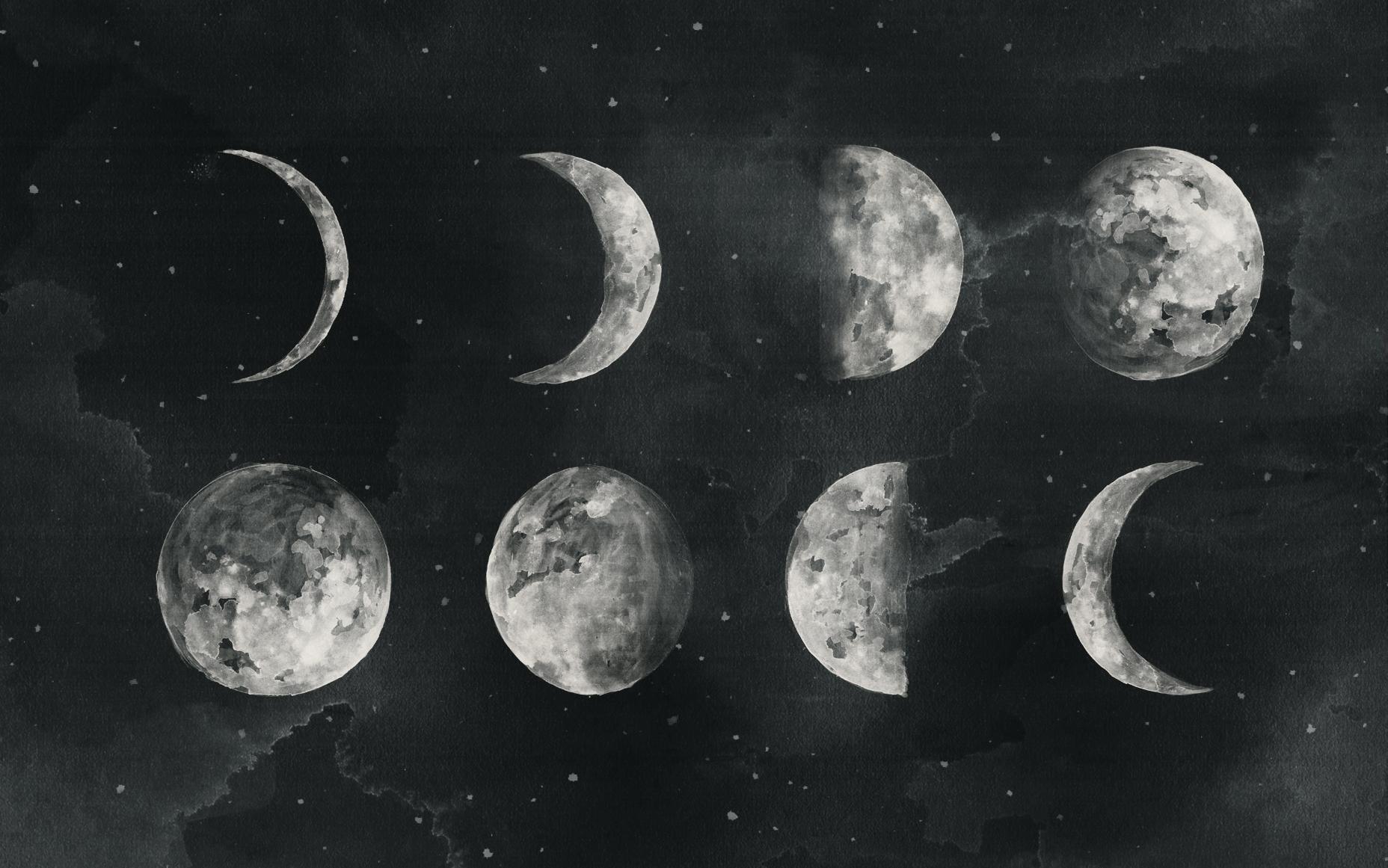 Moon Desktop Tumblr Wallpapers Wallpaper Cave