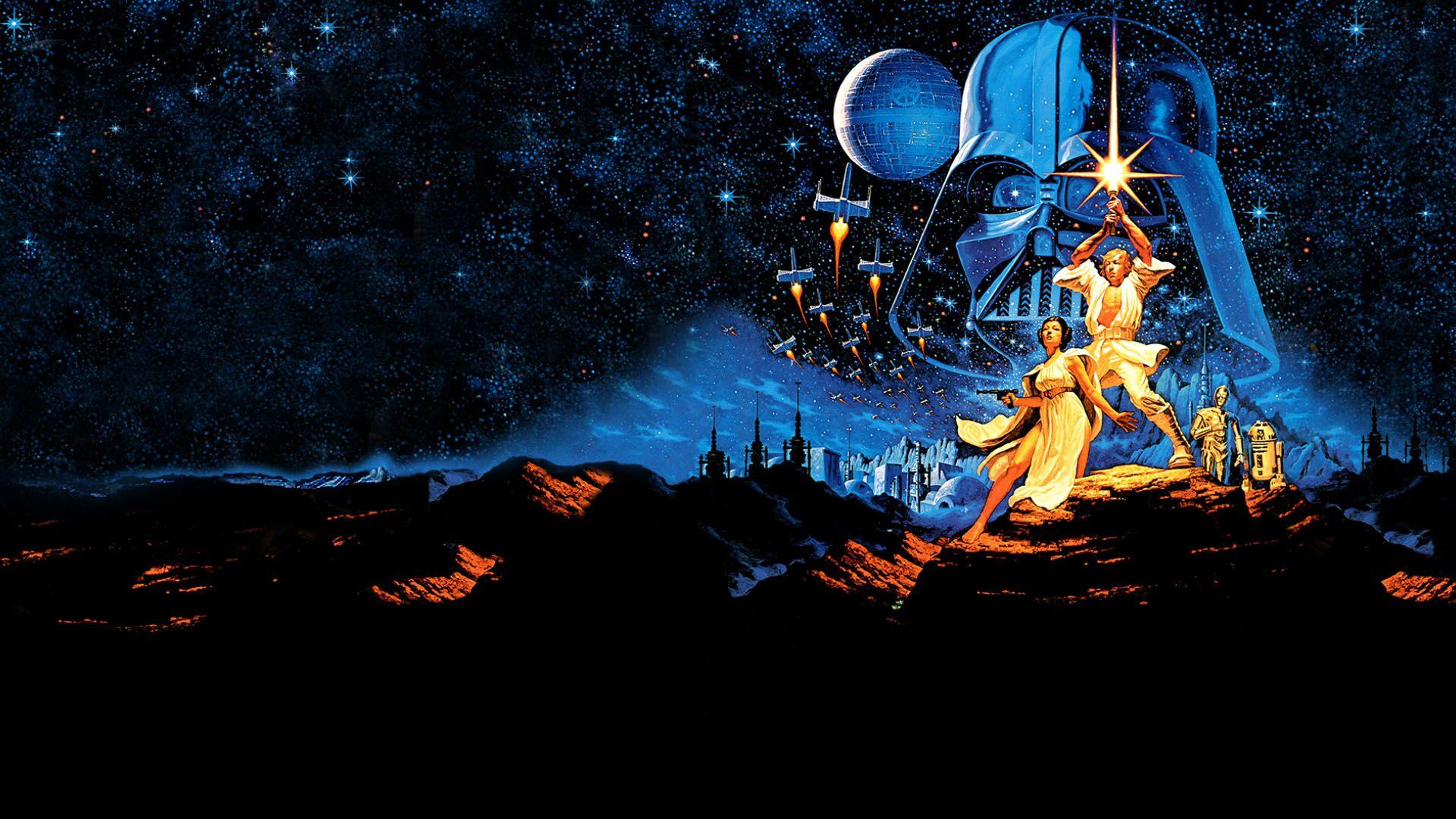 Star Wars Retro 1920x1080 Wallpapers Wallpaper Cave