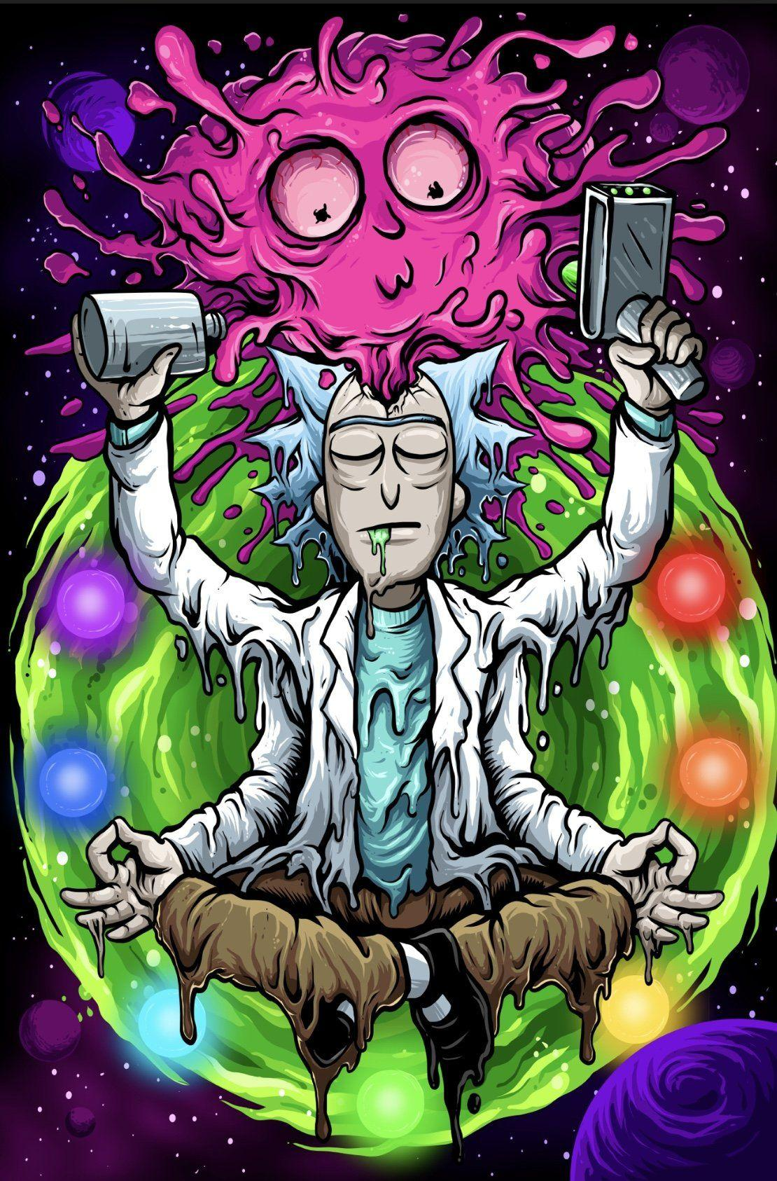 Tumblr Psychedelic Rick And Morty Wallpapers - Wallpaper Cave