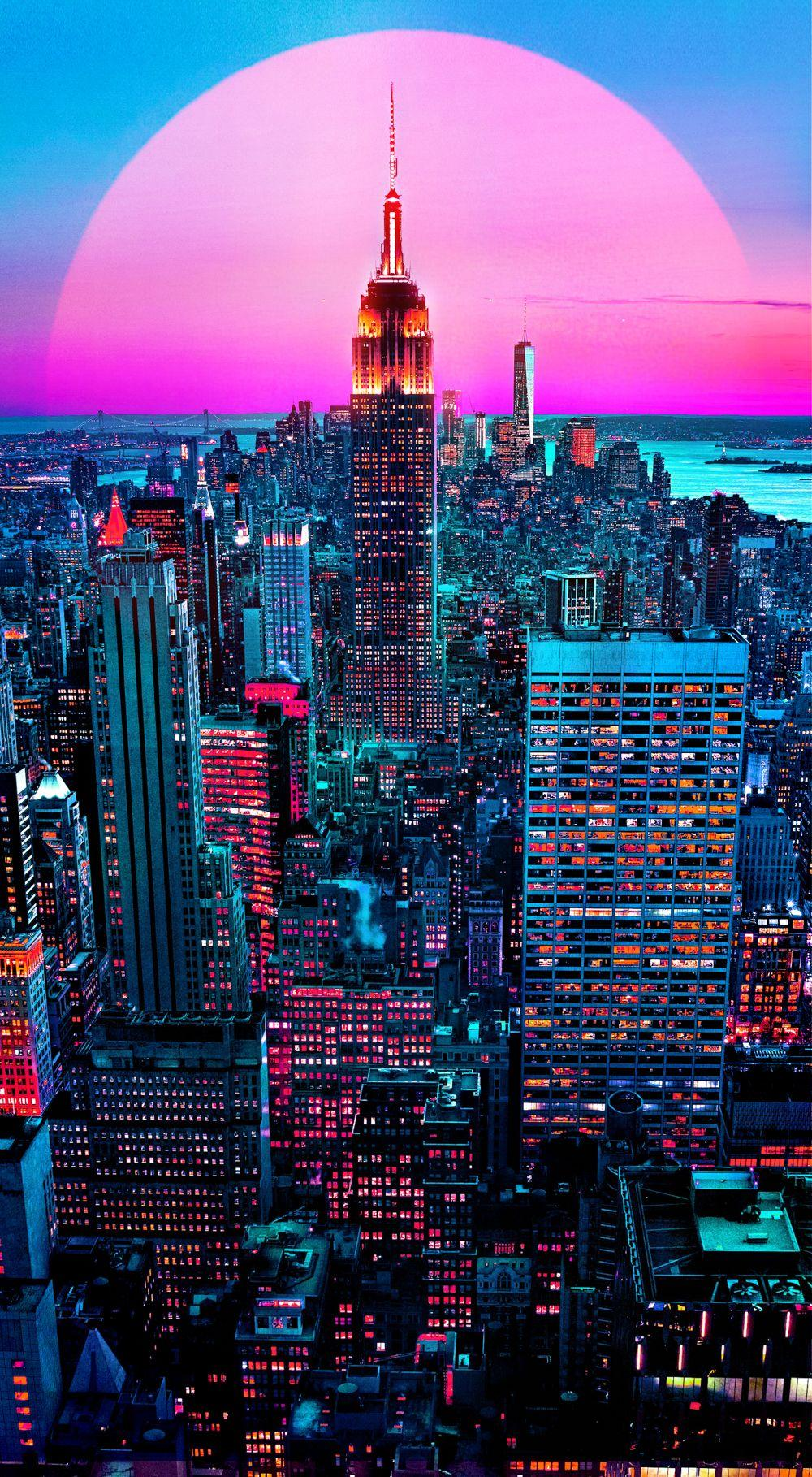 HD Aesthetic Neon City Wallpapers - Wallpaper Cave