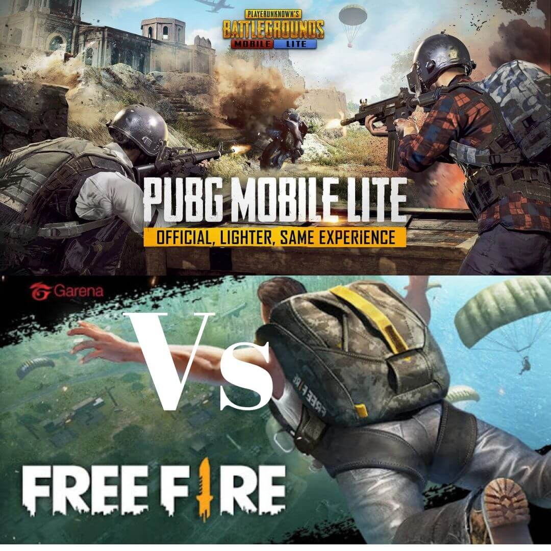 Pubg Mobile Lite Vs Free Fire Wallpapers Wallpaper Cave