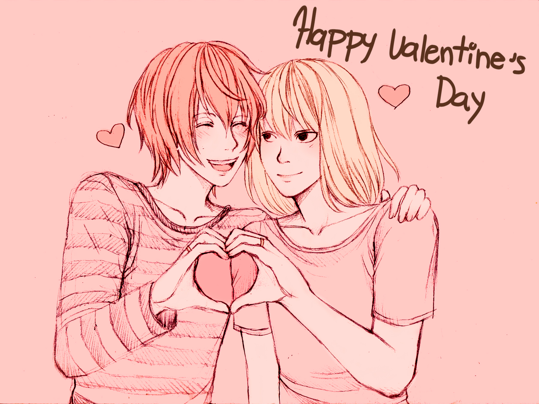 Anime Girl And Boy Kiss Valentines Day Wallpapers Wallpaper Cave