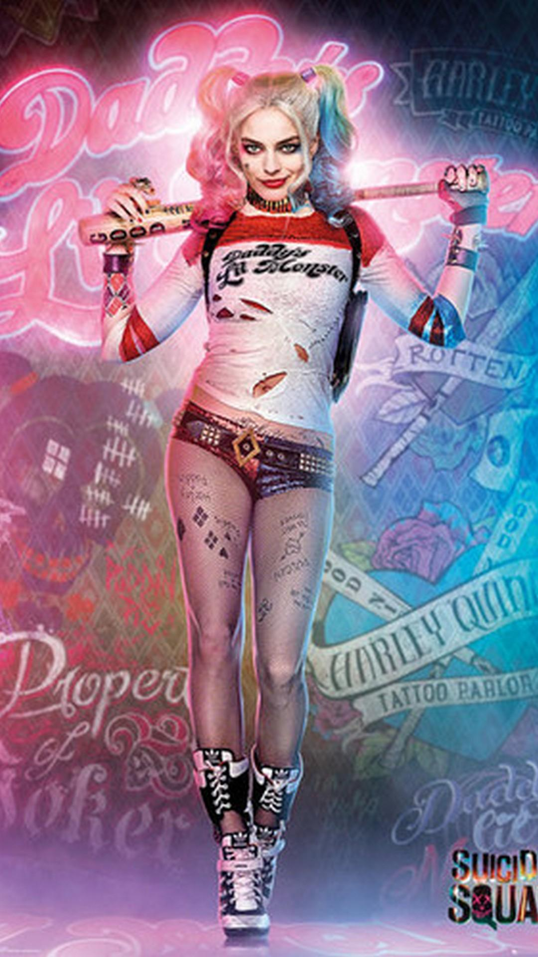 Harley Quinn Hd Iphone Wallpapers Wallpaper Cave